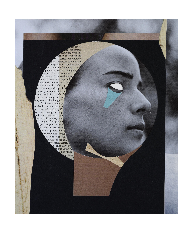 'MEMORIES' | analog  collage on 100Ib Bristol, 14 x 17 inches. 2019.