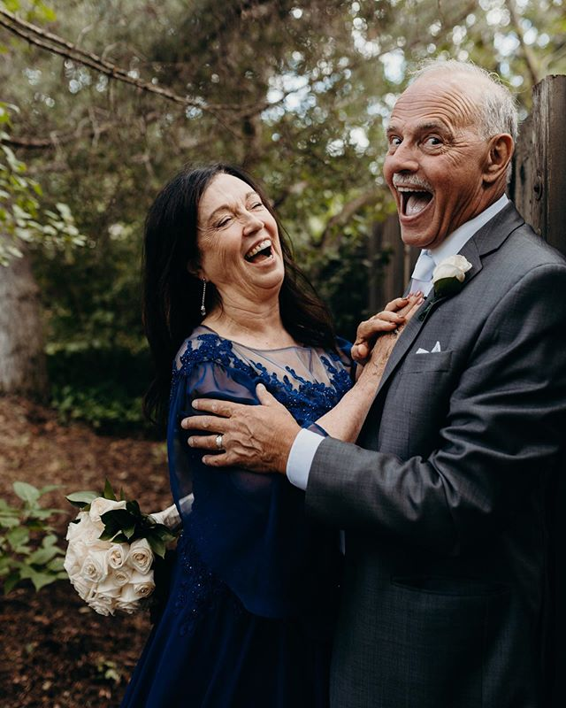 Many belly laughs at your wedding please.