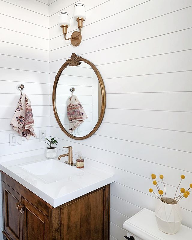"Ladies and Gents!!!! I am working on a blog post to give you all the sources from my little bathroom makeover so please stay tuned!!!! And a funny story....scroll in to see my hook from @anthropologie. It was the last letter left and on major sale. I mean who doesn't want the letter U in your bathroom?! 🤣My sister and mama just couldn't understand why. I get a phone call from my sis saying, ""Hey!! They have another hook on sale but it's an O! Do you want it!?!"" I was like.....well they just did a second coat on the bathroom I don't want to mess it up. If you want you can get it!?"" I saw both my sister and mama last weekend and she hand delivered me the ""O"" hook. I laughed so hard. It really bothers her that I have a U in my bathroom with no meaning!!!! So of course like any sister I am going to leave the ""U"" there and come up with all different sayings that involve a U!🤣🤣 Do YOU have any to tell her!? Bahhh!!! Love you @ranchintoreno 🤣❤️😘😘 . . . . . . #hunkerhome #betterhomesandgarden #smploves #mypinterest #myoklstyle #simplystyleyourspace  #gofinding #housebeautiful #sodomino #myscoutandnimble #lonnyliving #hunkerhygge #lcdotcomeloves #mytradehome #theeverygirlathome #interiordecor #peepmypad #omysa #ispyraddesign  #makehomematter #anthrohome #schoolhouseliving #anthropologiehome  #heyhomehey #mywholehome  #darlingiloveit #shiplap #bathroommakeover"