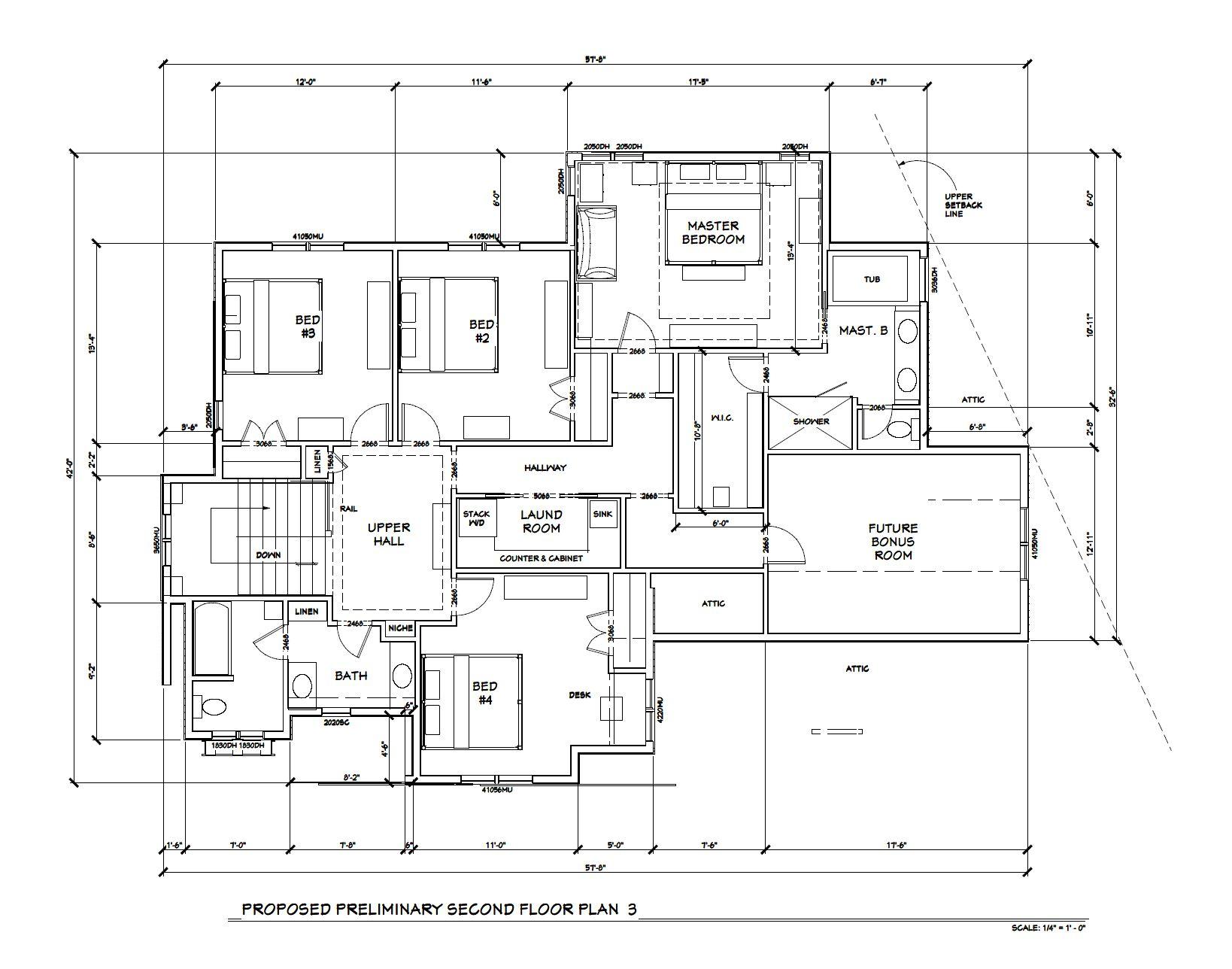 Edina New Build | 2nd Floor Plan