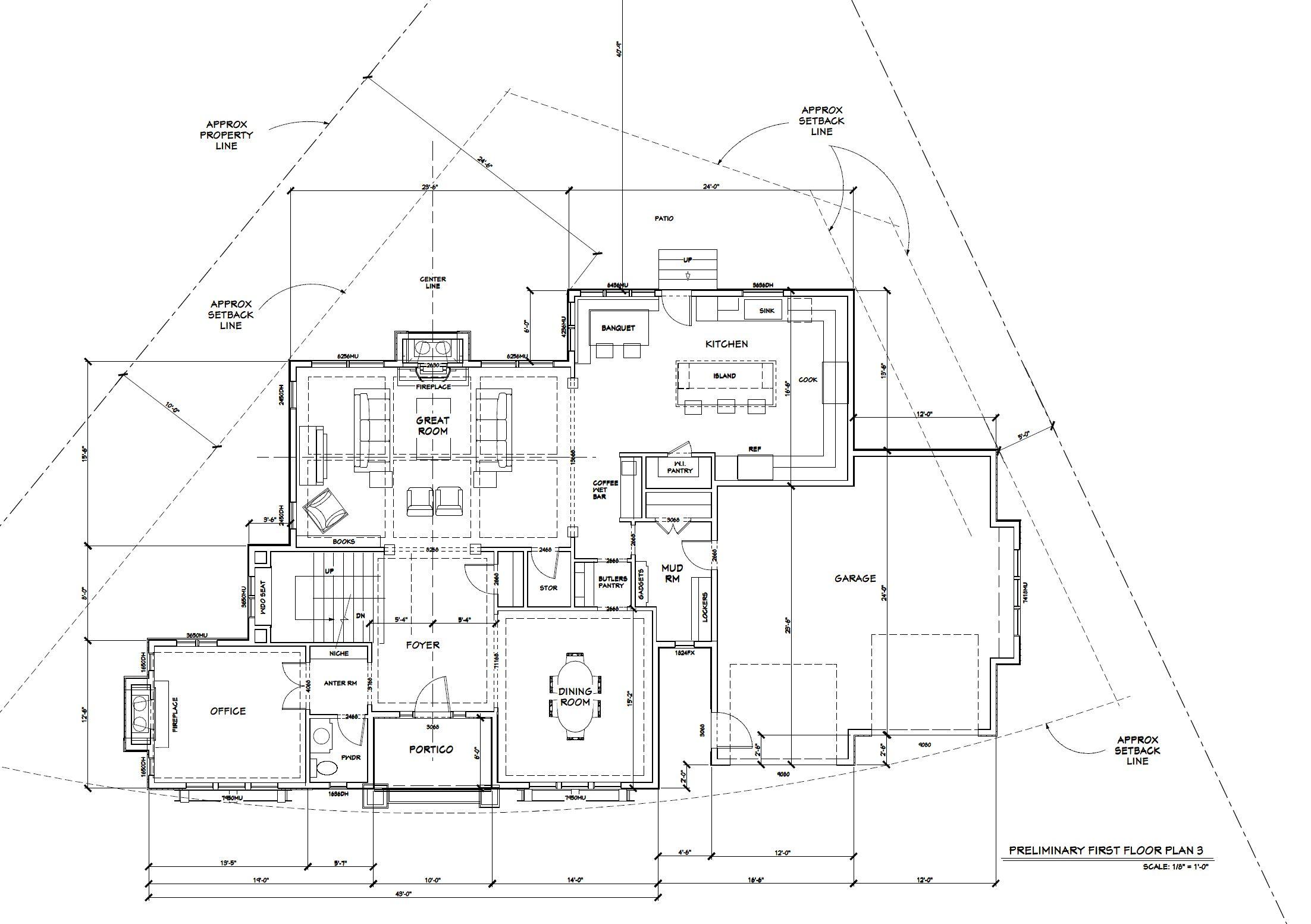 Edina New Build | 1st Floor Plan
