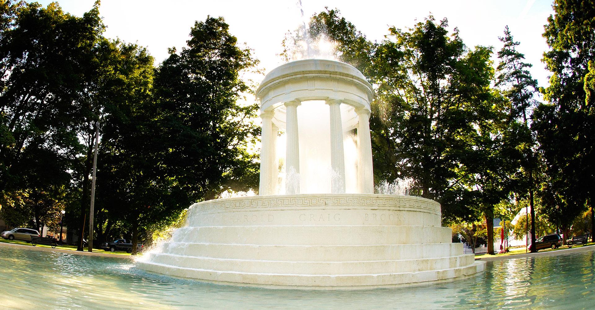 Brooks Memorial Fountain - Marshall, Michigan