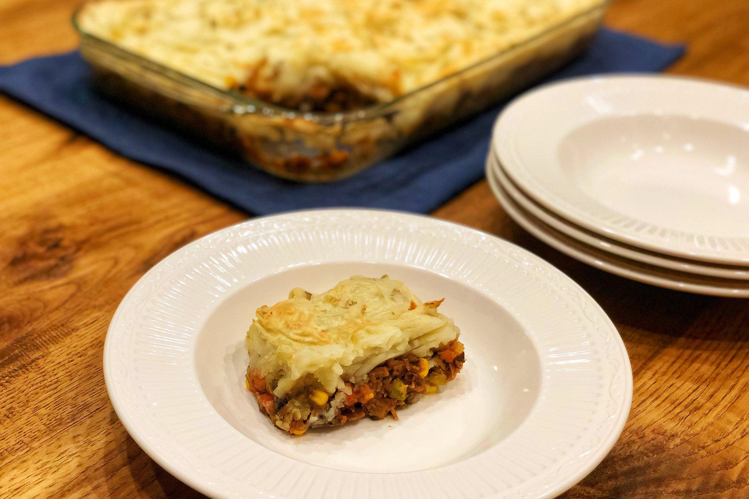 Whole-Food Plant-Based (WFPB) Shepherd's Pie