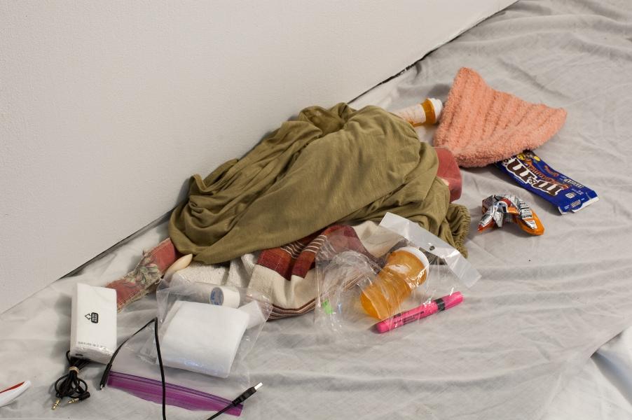 Figure 1: Jay Juno,  Homeless Shelter , 2018, detail.