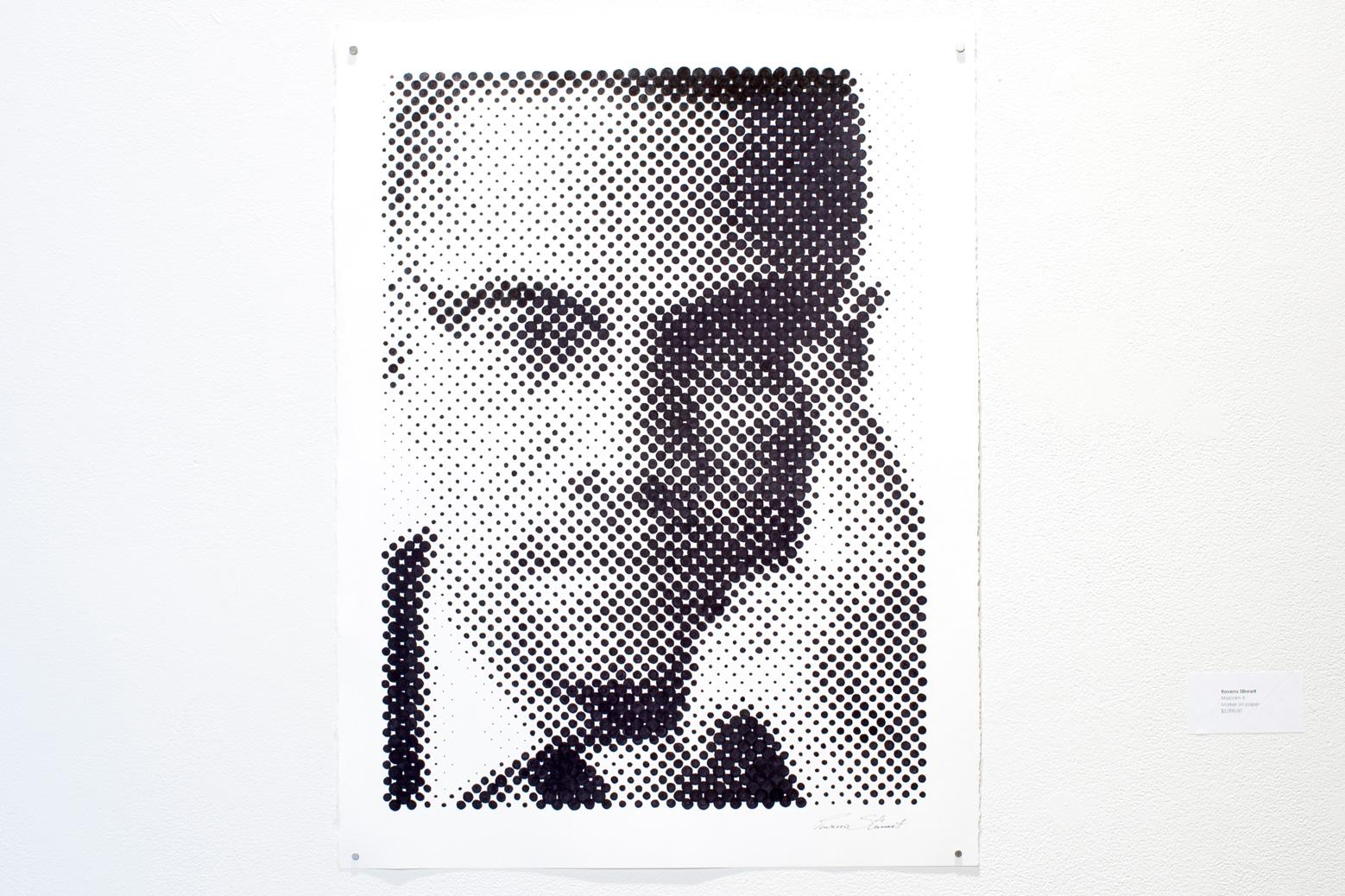 Figure 4: Raverro Stinnett,  Malcom X , 2018.