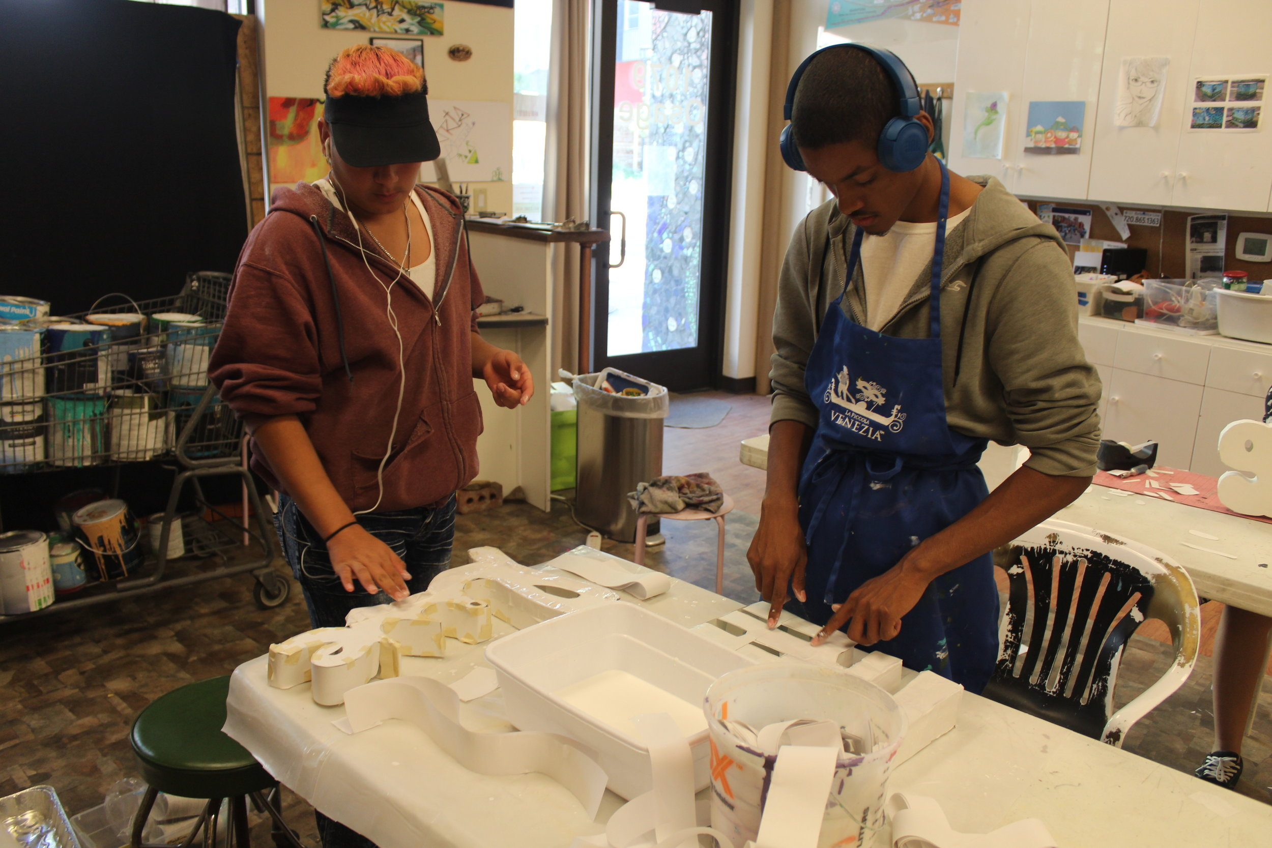 Arts Street@YEA Summer Interns worked collaboratively to complete their community projects.