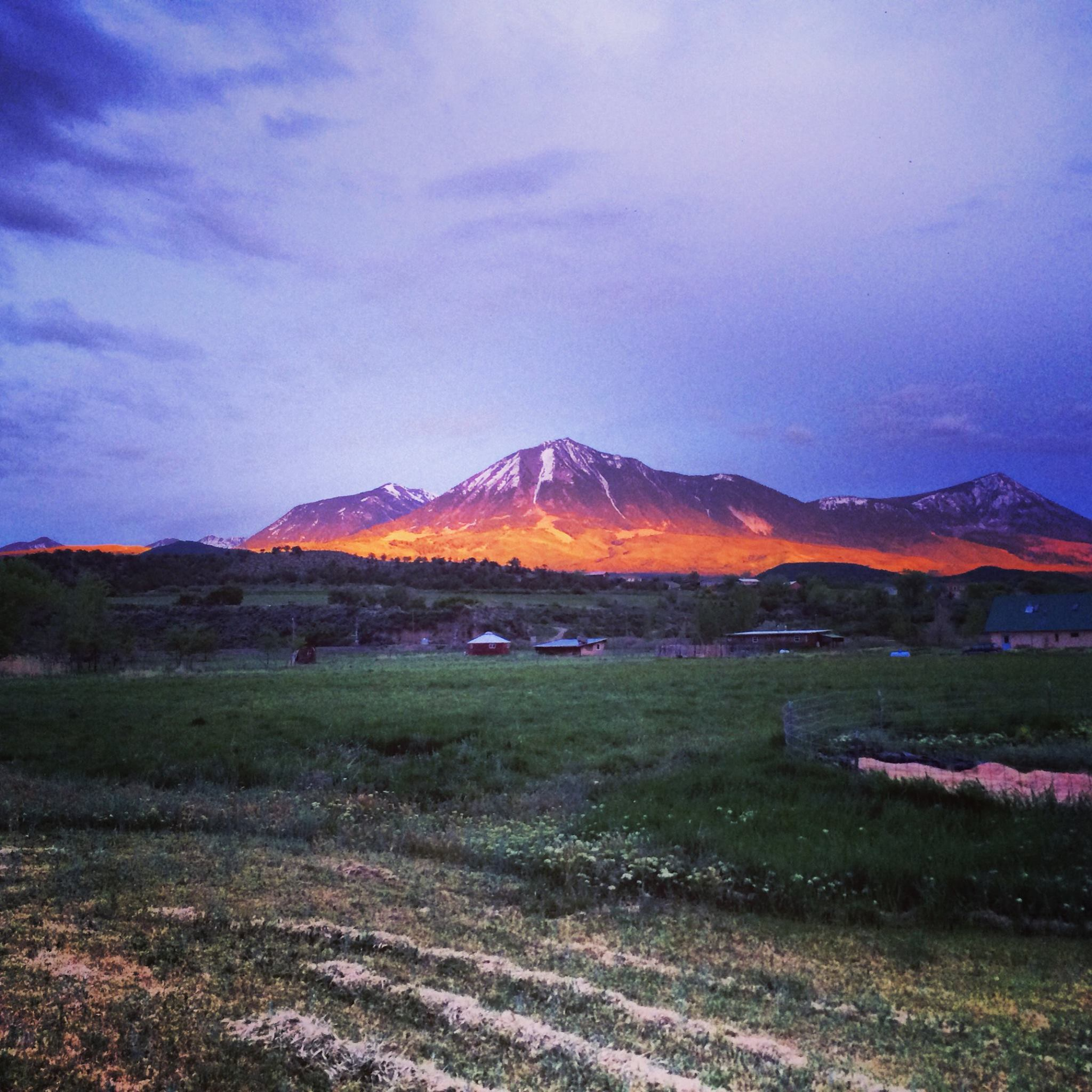 Sunset over Paonia, Colorado