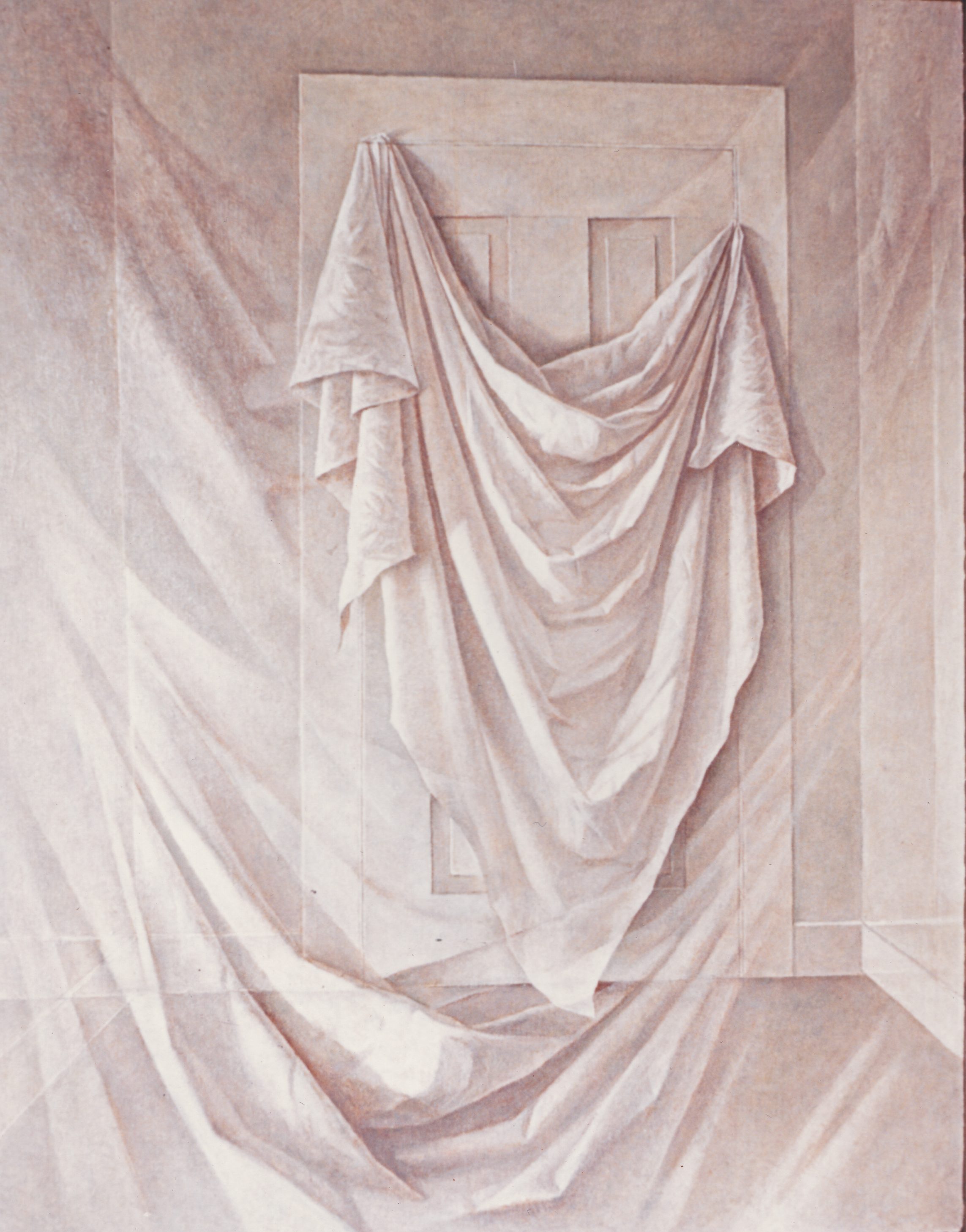 Memory of a Draped Door  1954, Oil on canvas.