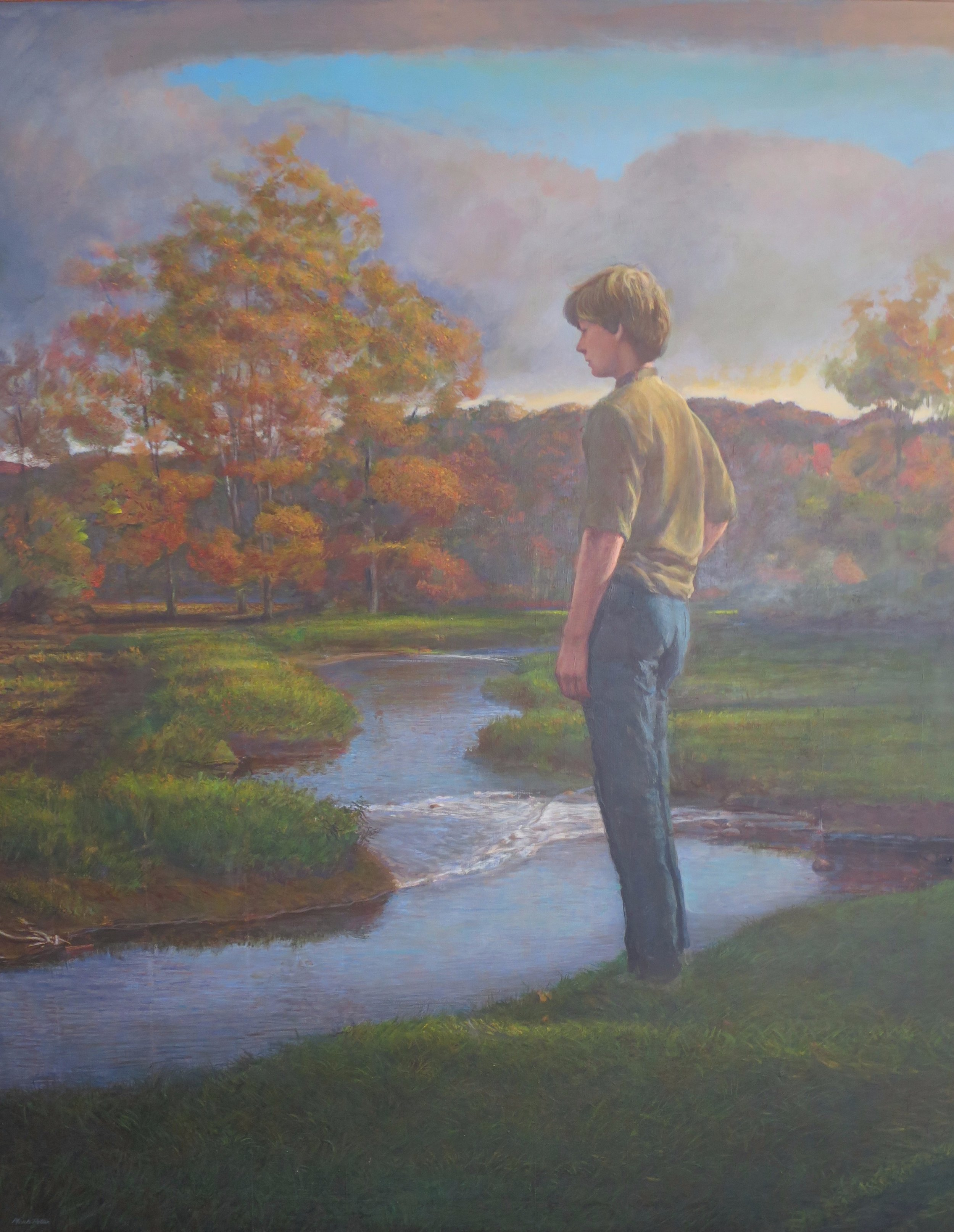 Jeff by the Weekeepeemee.    1978, tempera on panel. Private Collection.