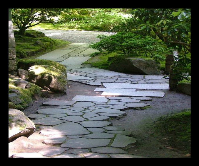 beautiful stone walkway with pavers and landscaping.png