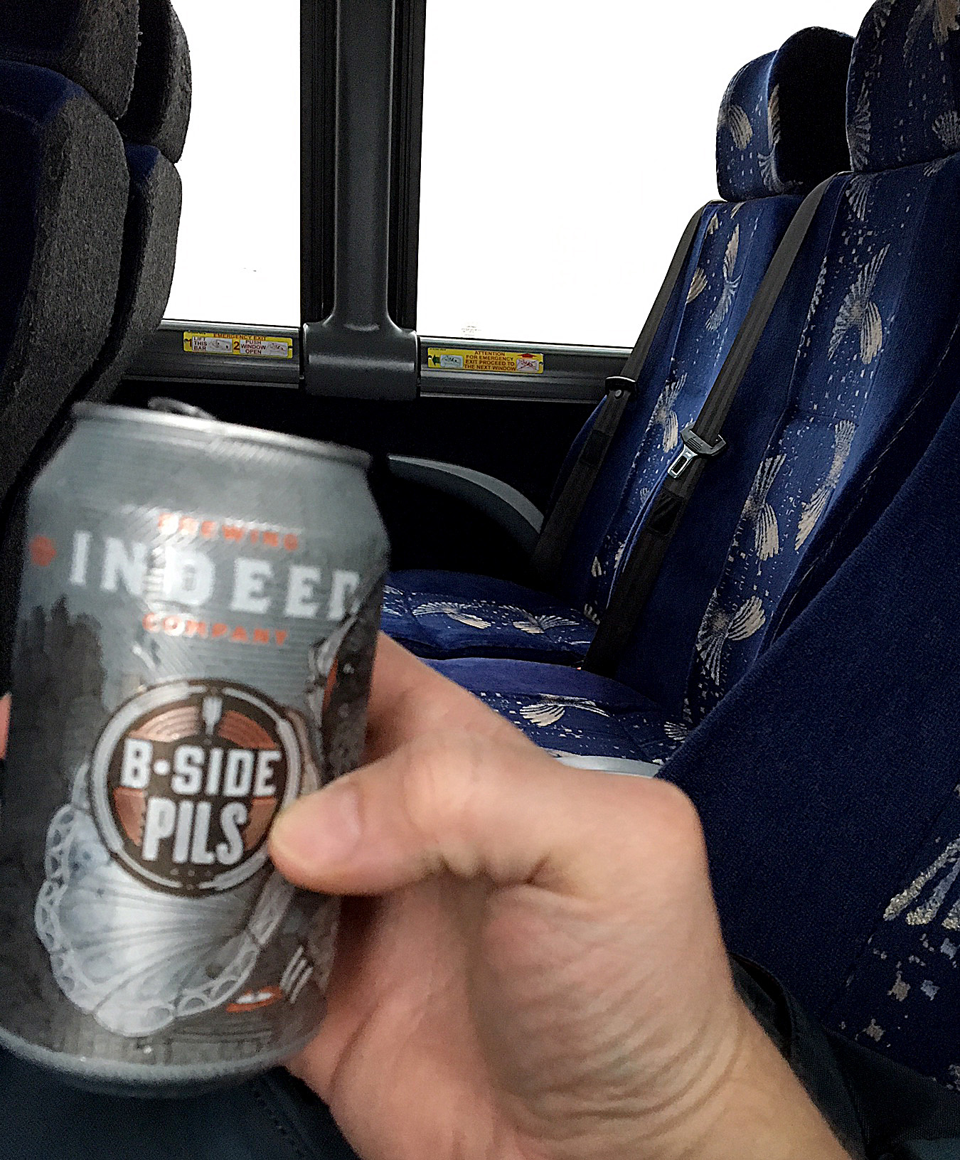 Done with classes for the day, time for a field trip. Of course there was beer on the bus.