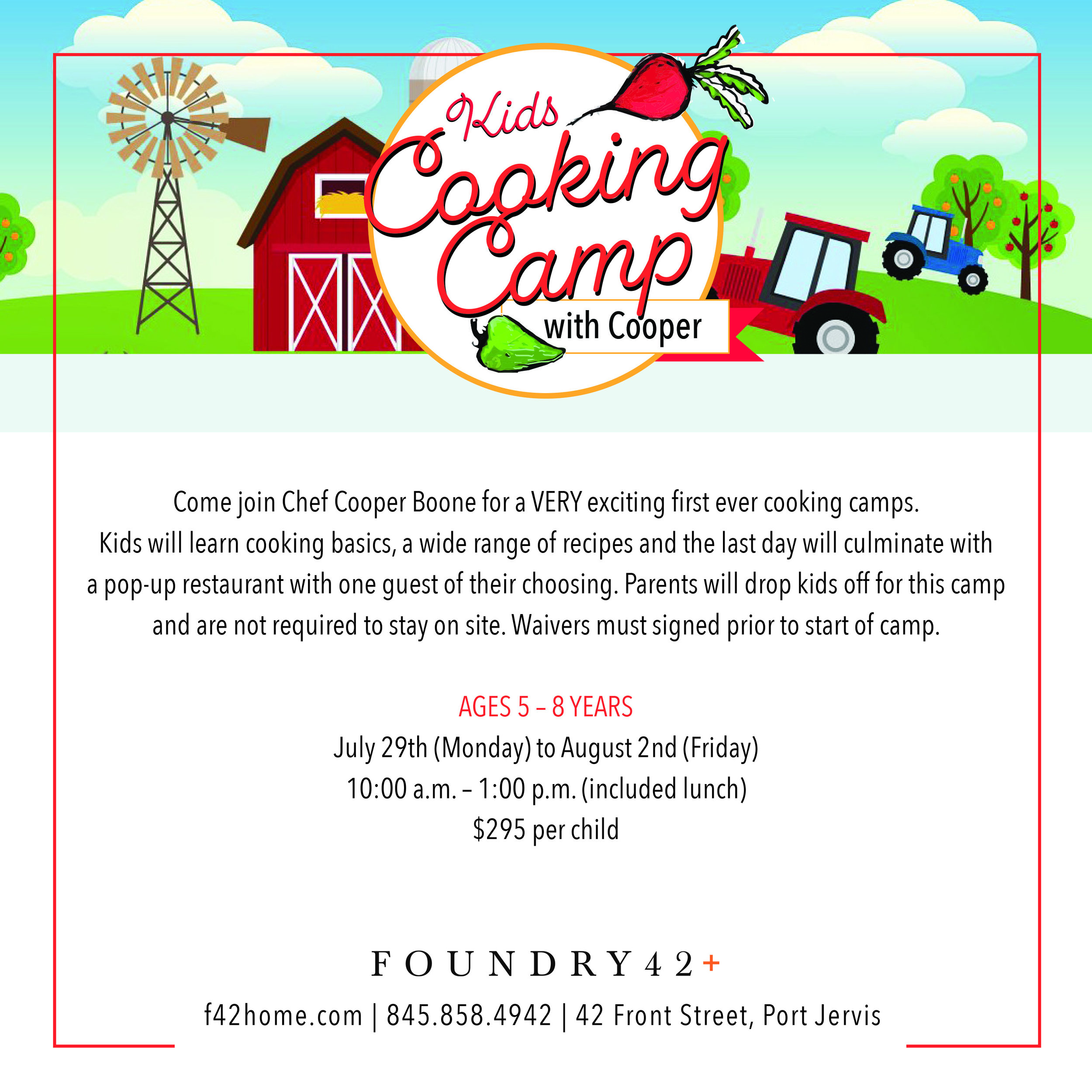 Kids Cooking Camp with Cooper (ages 5 – 8) — Foundry42+