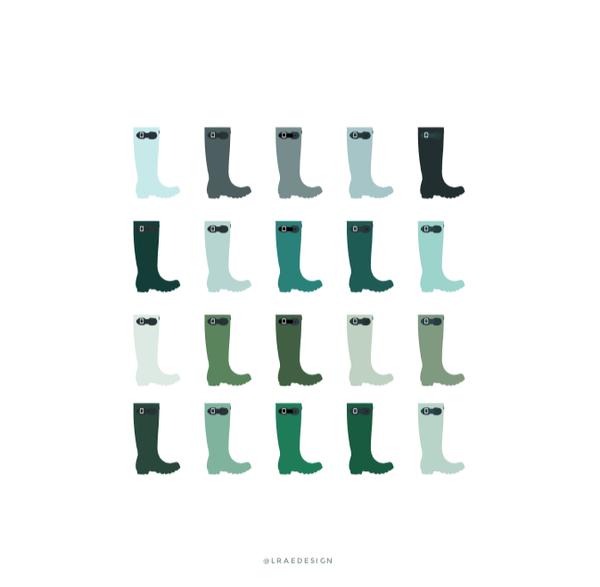 L Rae Design Rainboots