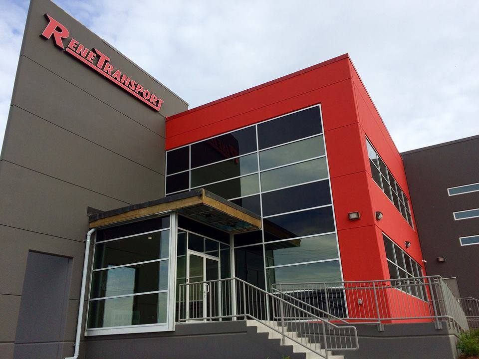 Rene Transport's brand new office in 2015, shortly after moving in.