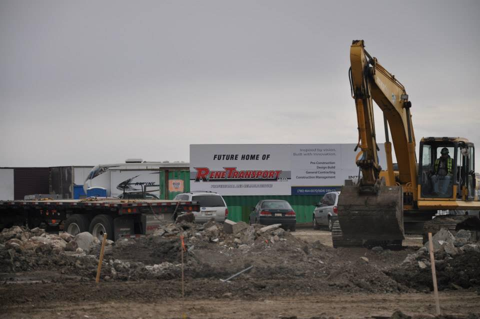 Rene Transport's new office under construction in 2014.