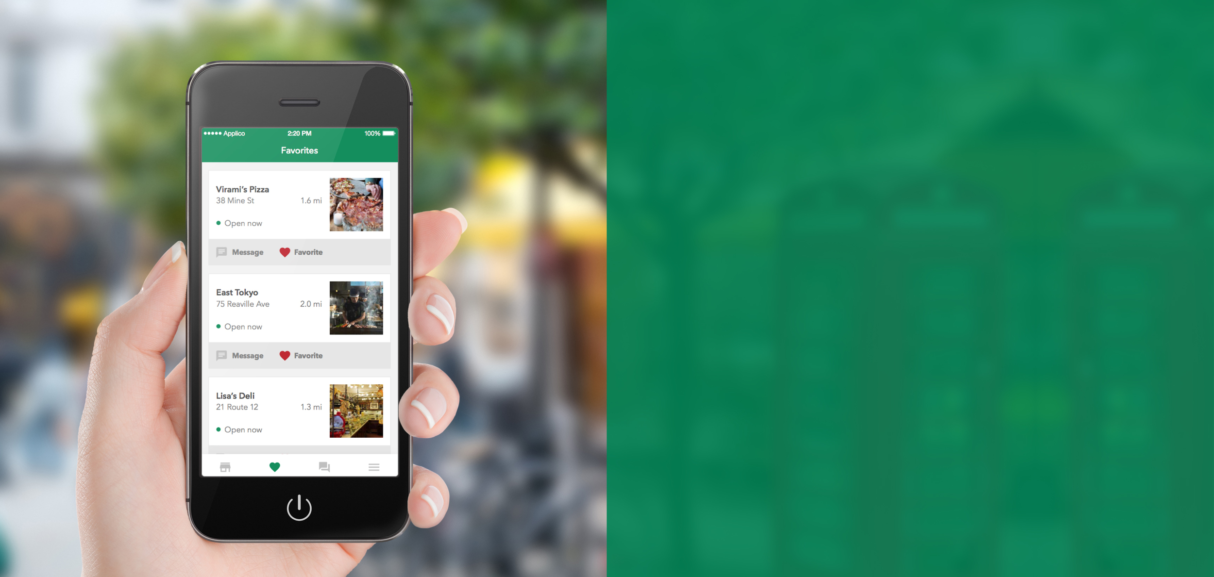 Message local businesses in your neighborhood  as effortlessly as you message friends.   Download app