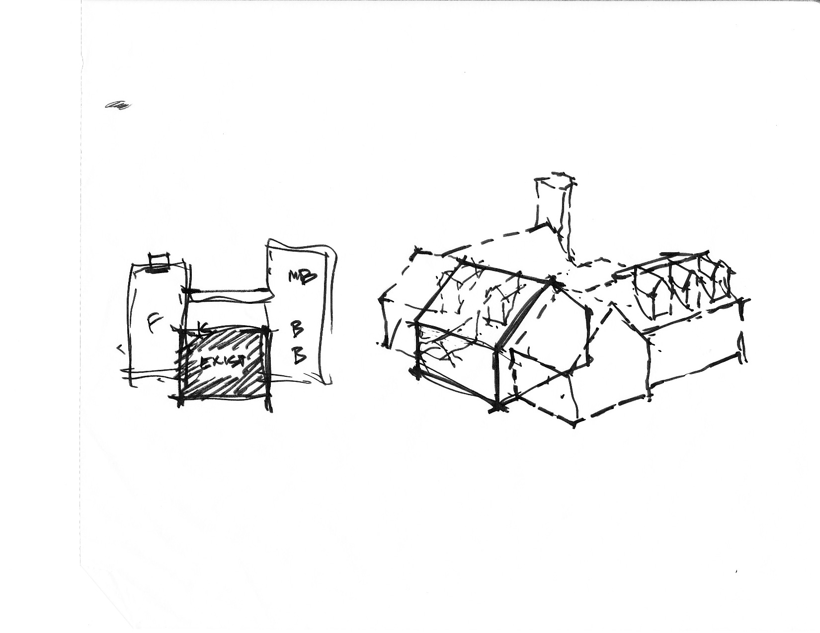 Luther Paul Weber Country Retreat Sketch 1