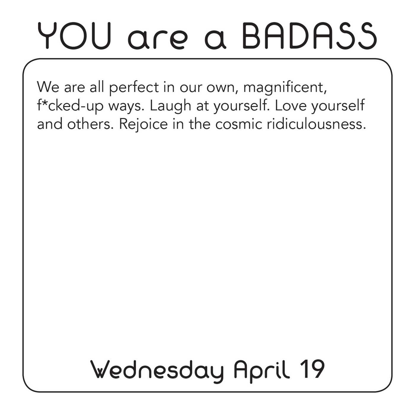 you are a badass-caitlin-elliott-inspiration-calendar