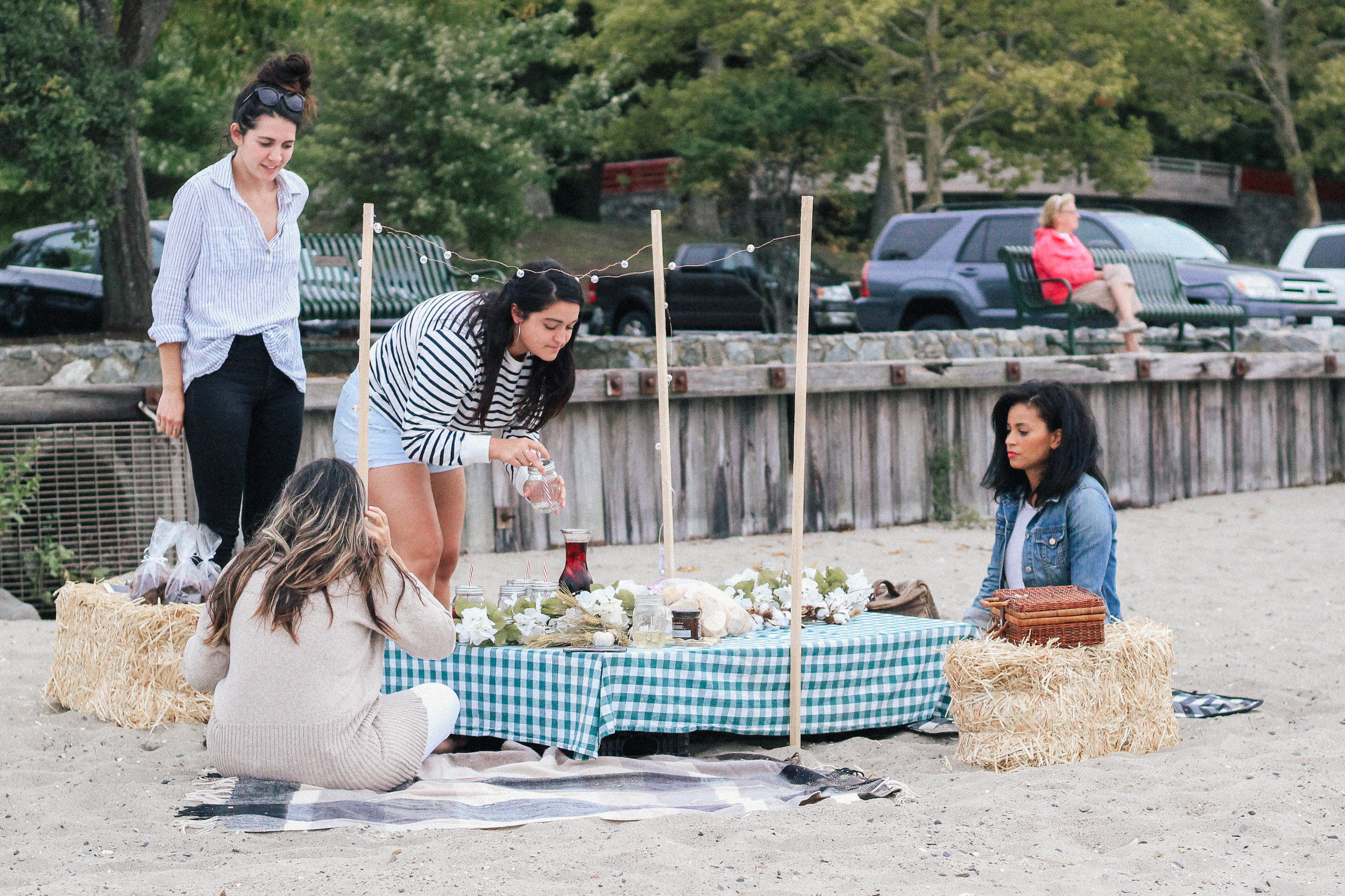caitlin-james-community-women-rhode isand-dinner outside-diner en dehors
