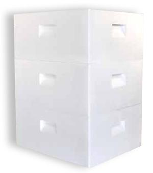Honeybee Brood Boxes stacked