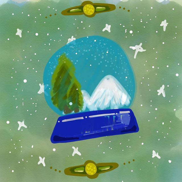 🎄🔮🎄 - - - #chrismtas #merrychristmas #navidad #feliznavidad #wishes #doodle #quick #artedelunapoumian #ipaddoodle #ipen #adobedraw #green