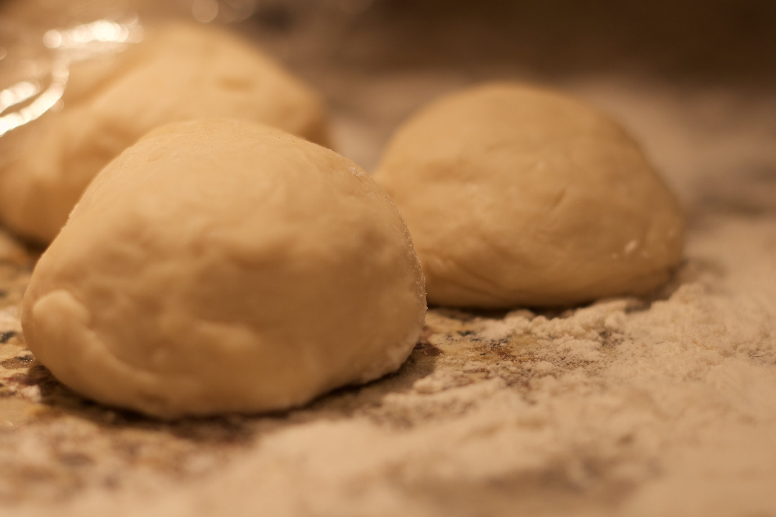 If your dough rests long enough, it will be relaxed & not tense & bouncing back as you roll it out.