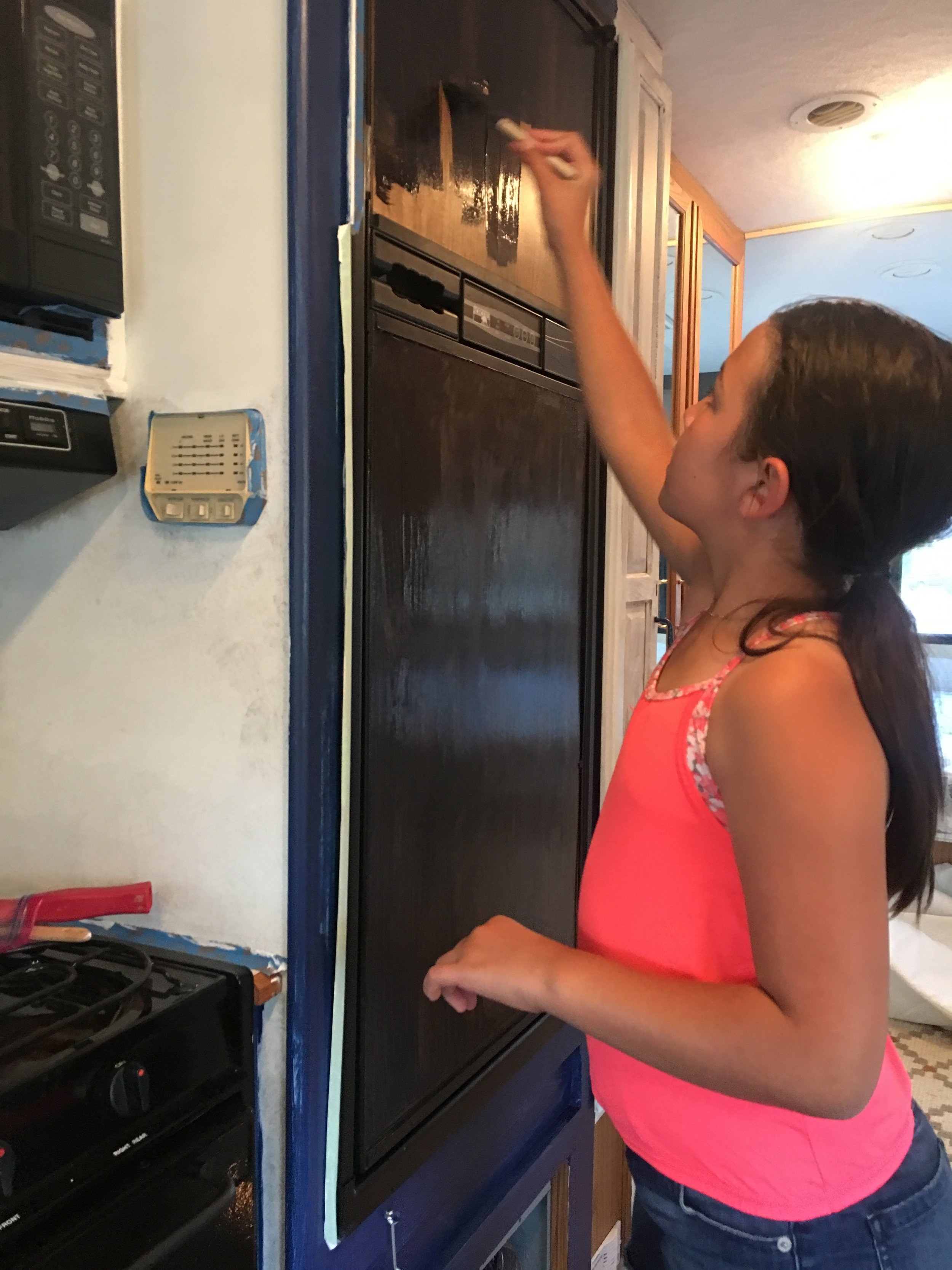Gotta have a chalkboard fridge!