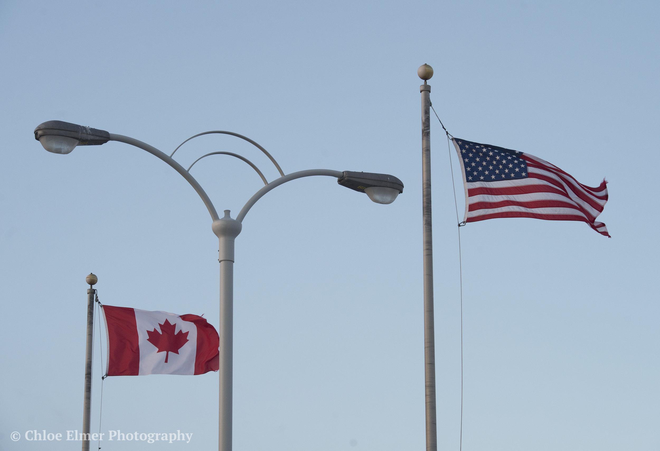 Back on the bridge and heading toward Canada.