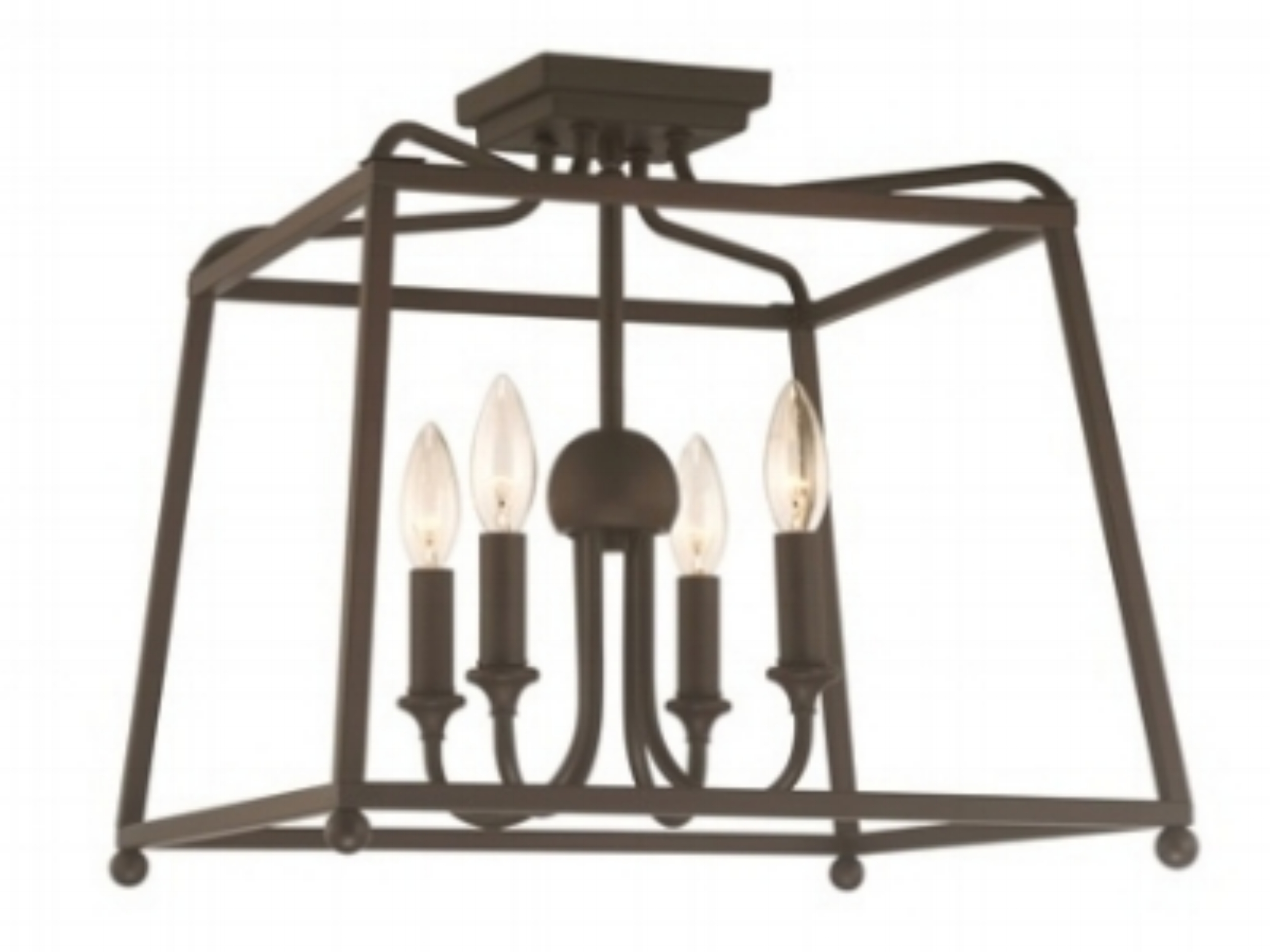 "Product Name:  Crystorama Sylvan 4 Light Dark Bronze Ceiling Mount  Dimensions:  w16 x h15.5 x d16 (in)  Total Number Lights:  4  External Lights:  4  Total Wattage:  240  Bulb Type:  Medium  Material:  Steel  Finish:  Dark Bronze  Canopy Size:  4.75"" x 1"" x 4.75"" (in)  Item Weight:  3  Package Weight:  5  Shade Size:  3"" x 4"" x 4.5"" (in) Empire"