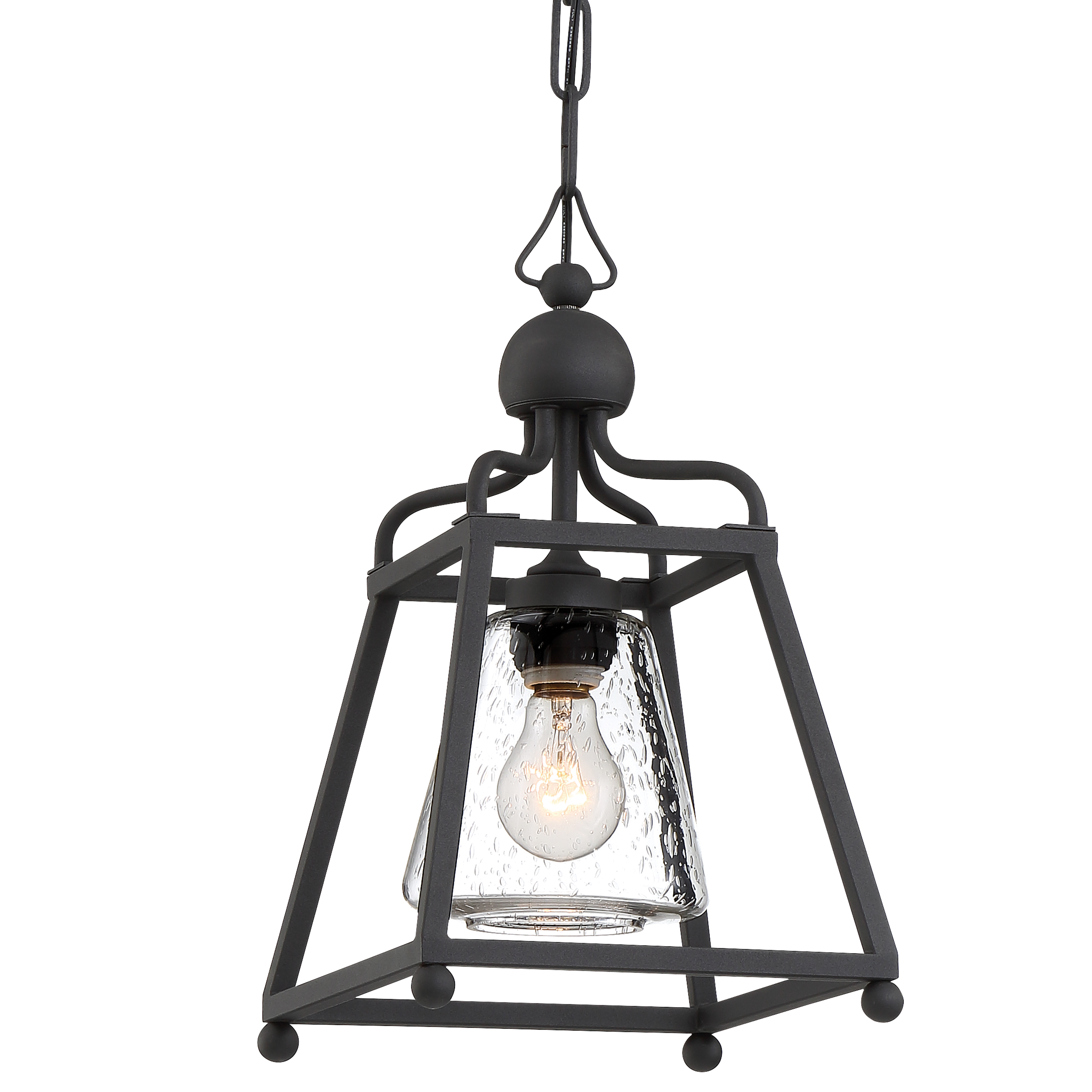 Sylvan 1 Light Black Forged Outdoor Pendant