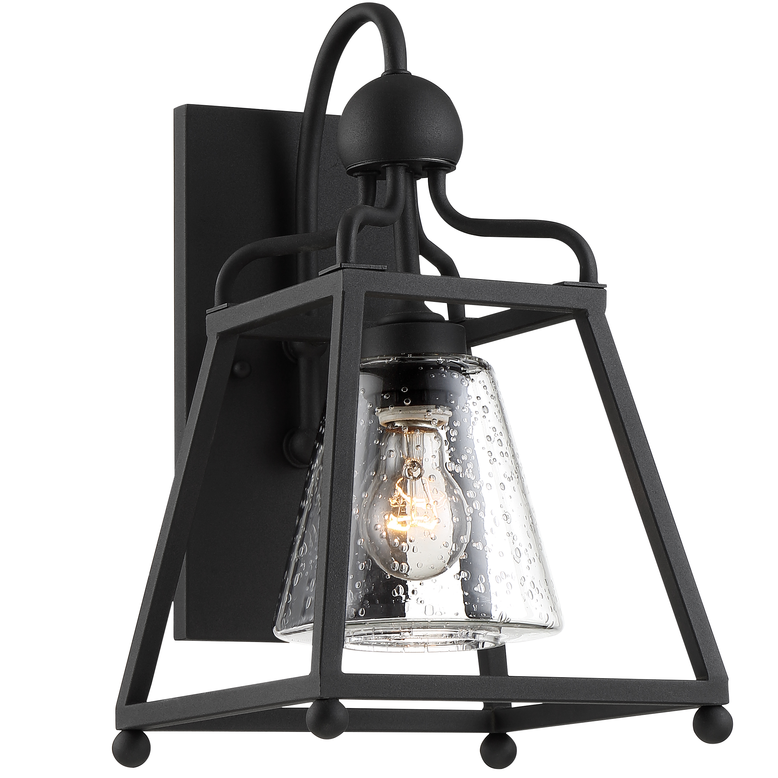 Sylvan 1 Light Black Forged Outdoor Wall Mount