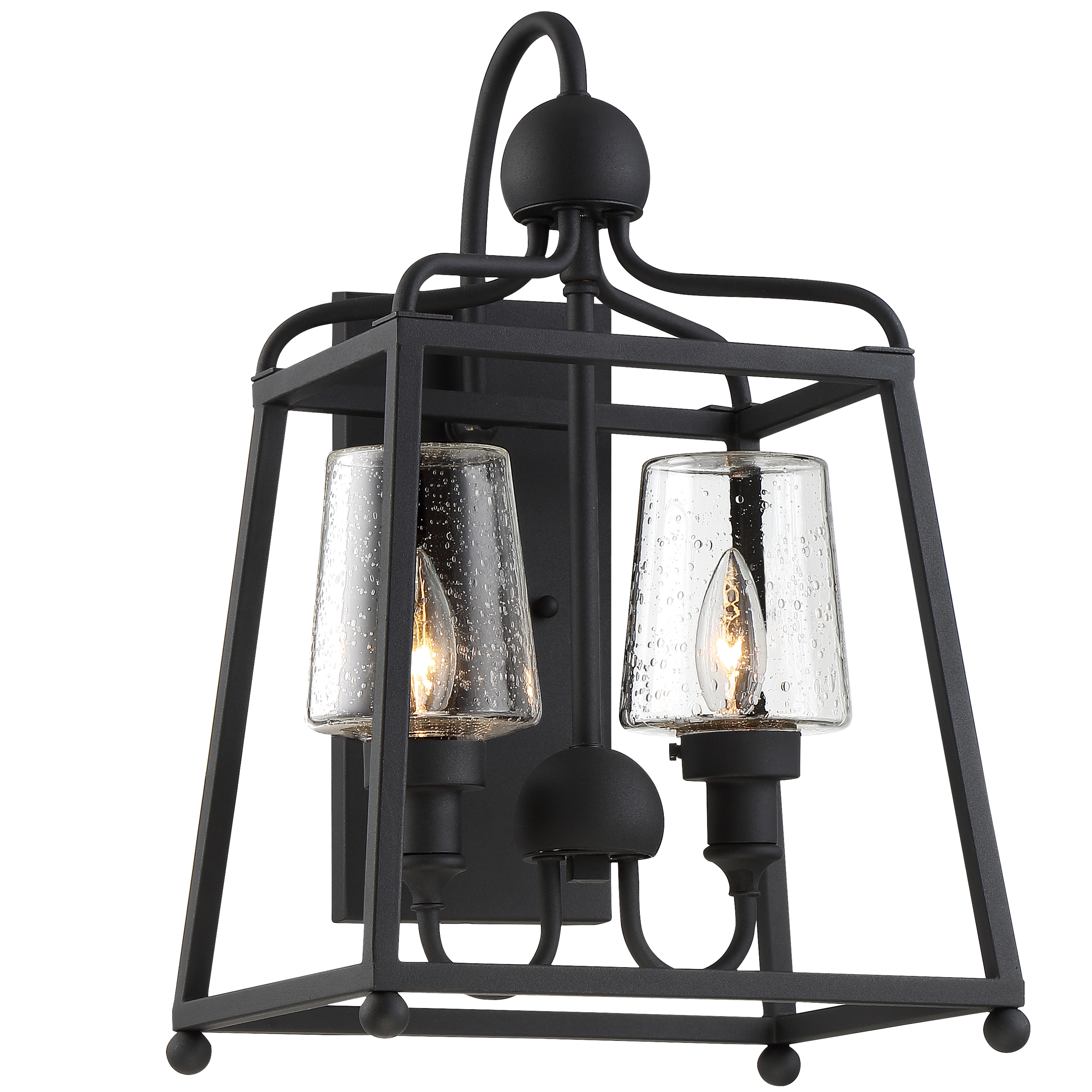 Sylvan 2 Light Black Forged Outdoor Wall Mount