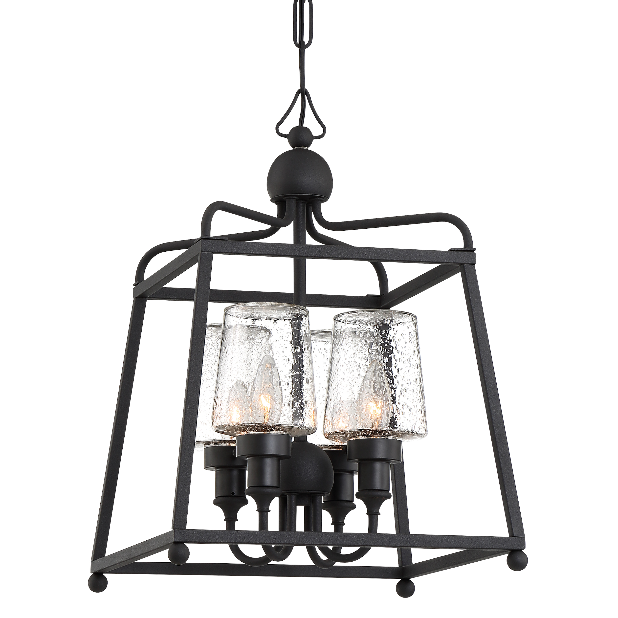 Sylvan 4 Light Black Forged Outdoor Chandelier