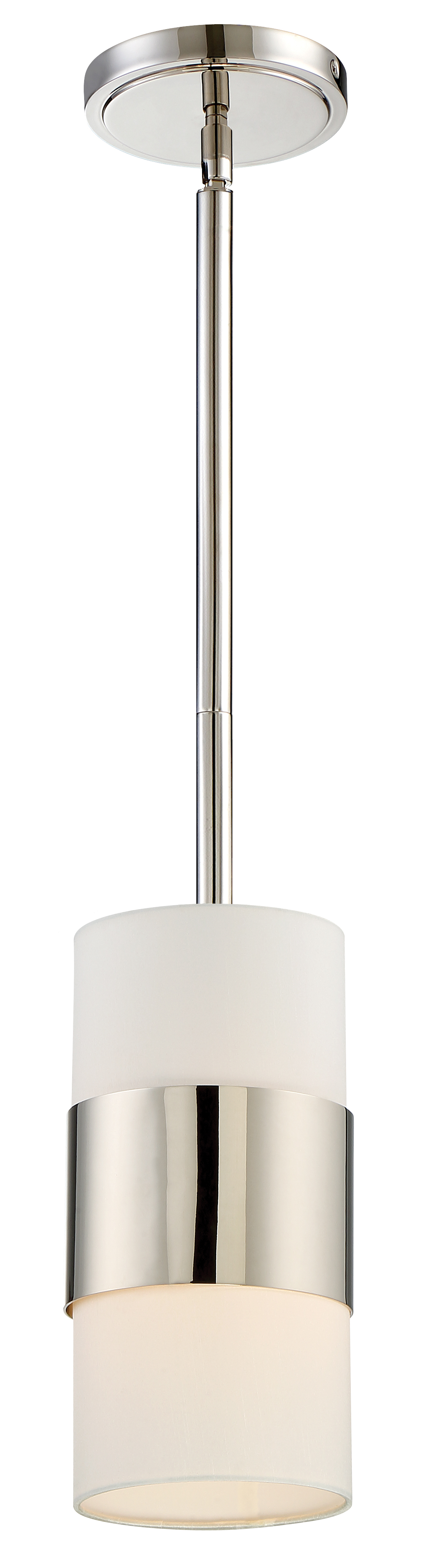 Grayson 1 Light Polished Nickel Pendant