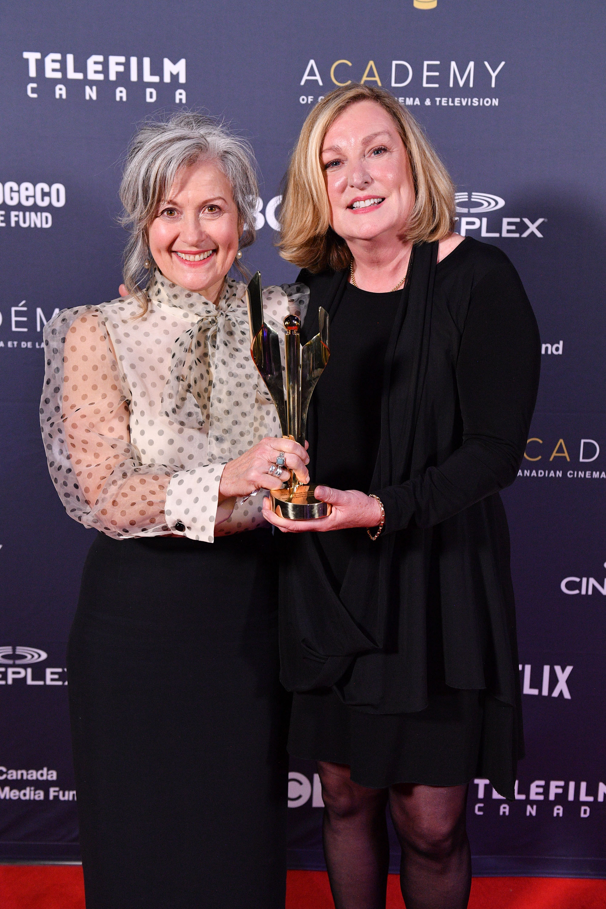 Janice Tufford and Elizabeth Klinck at the Academy of Canadian Cinema and Television Awards in March.