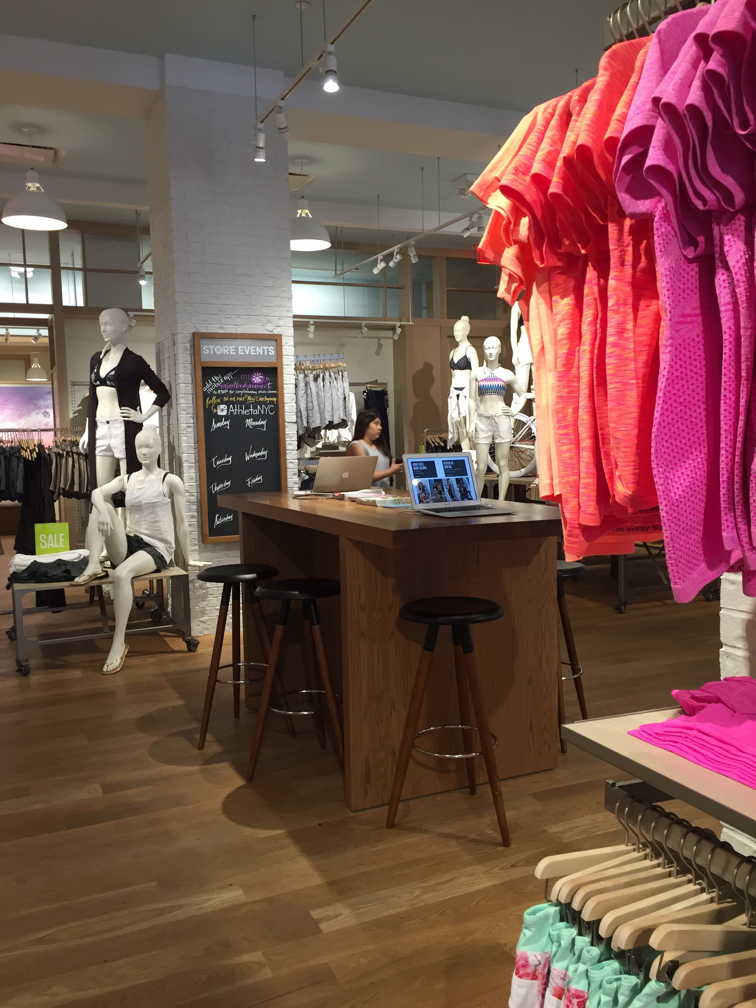 Athleta's tech-lite table