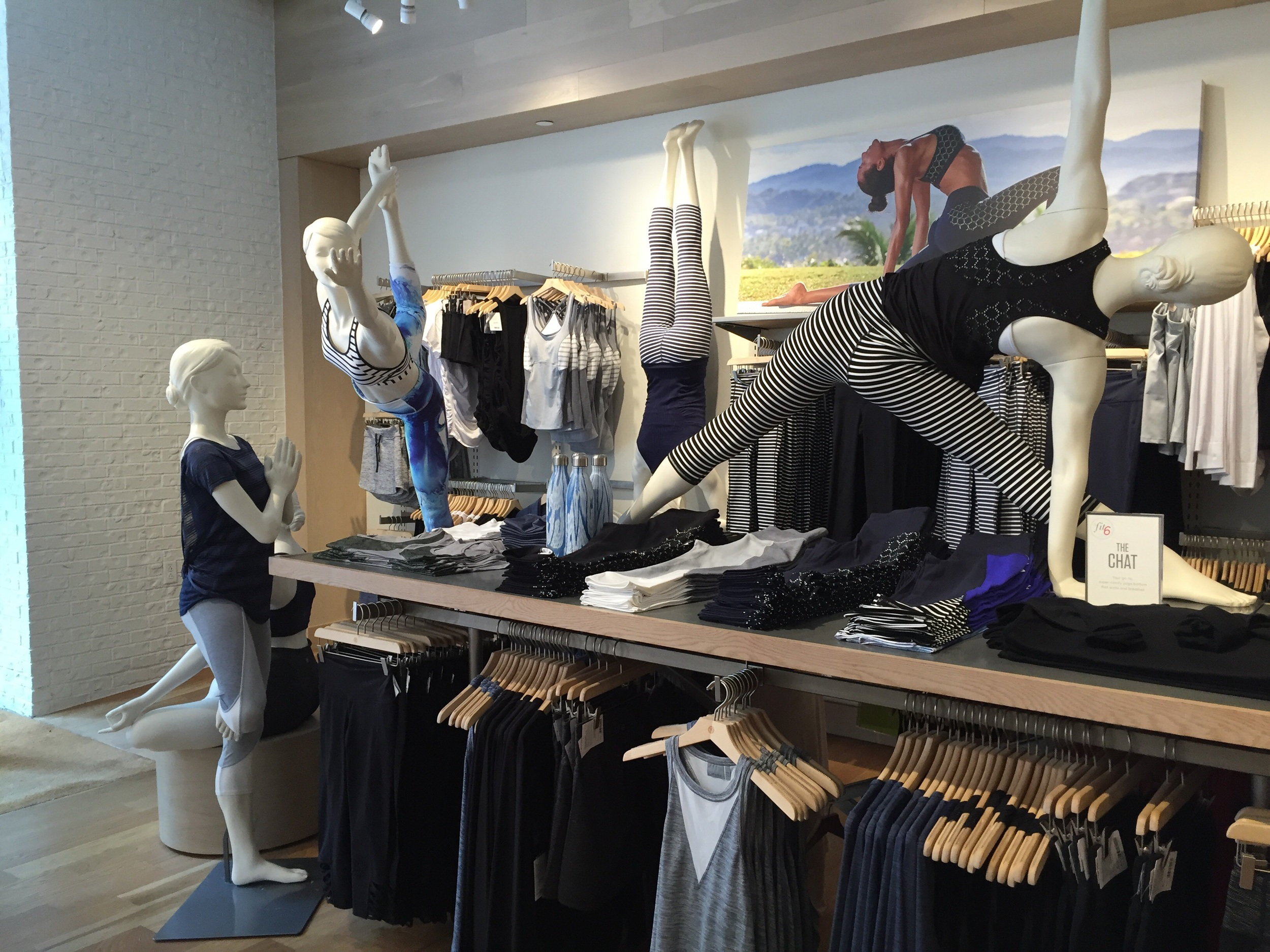 Athleta's well-dressed, well-posed mannequins