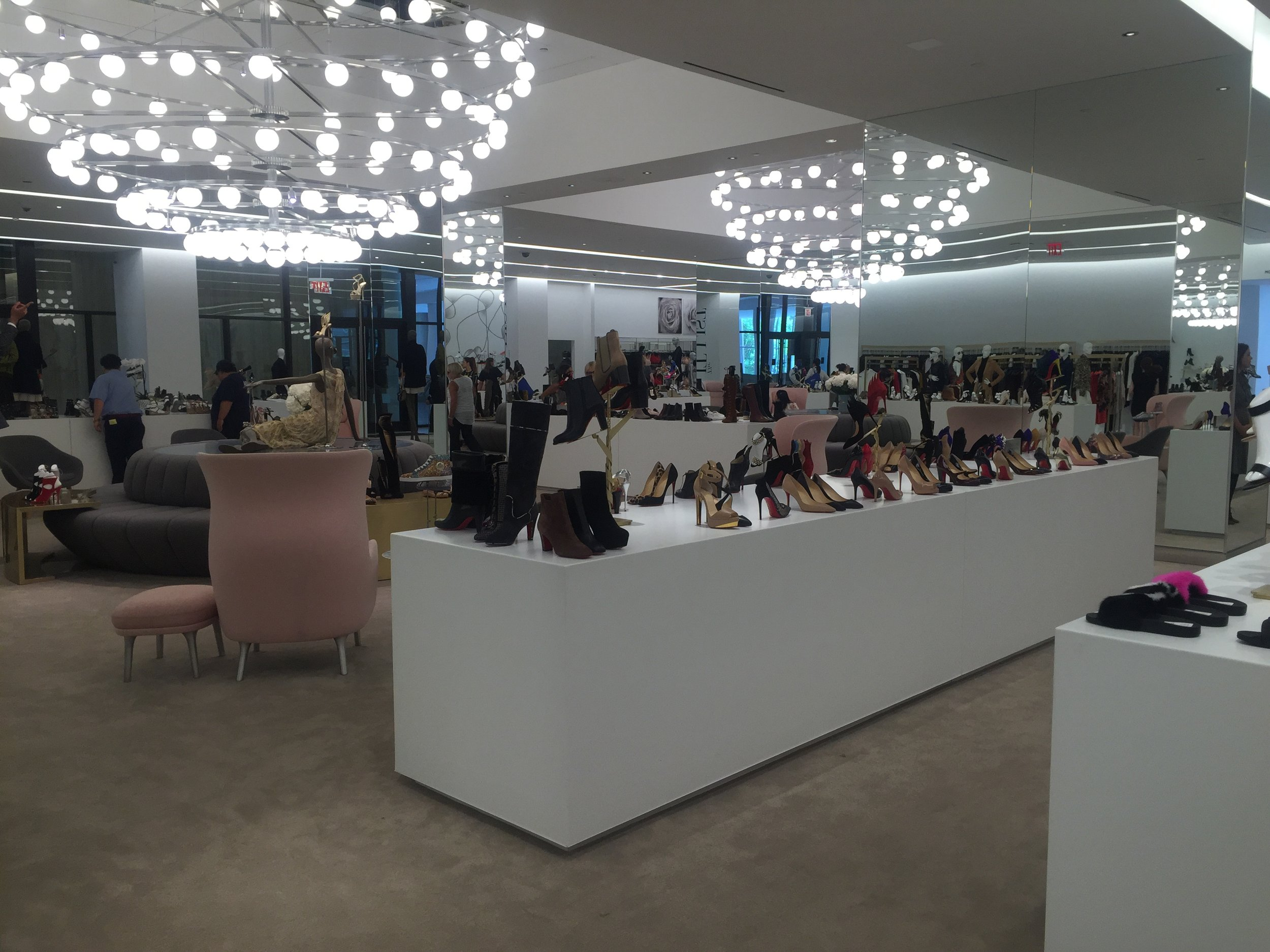 Saks' downtown shoe floor is perfect. I hope more customers enjoy it.