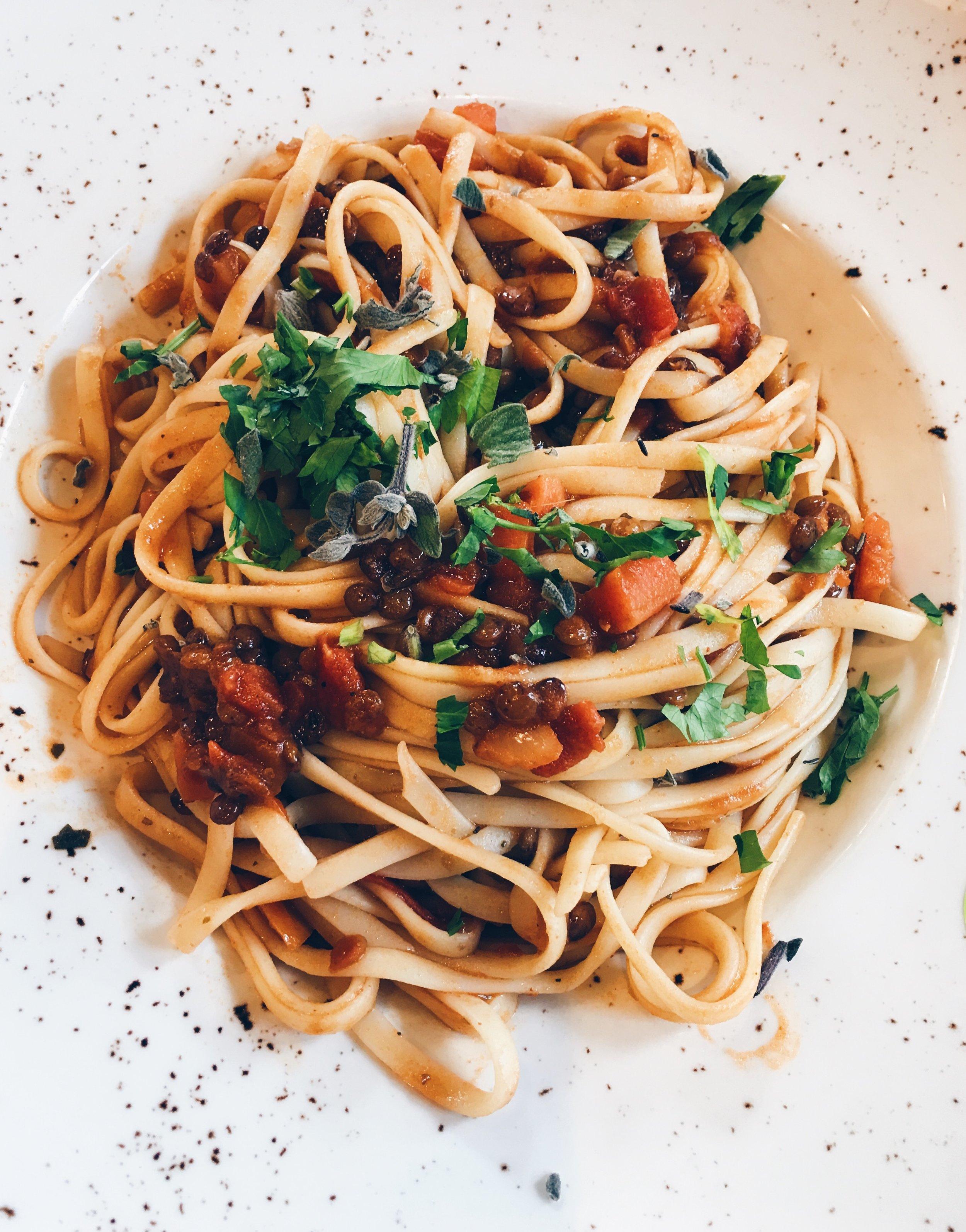 Pasta from Zizzi's