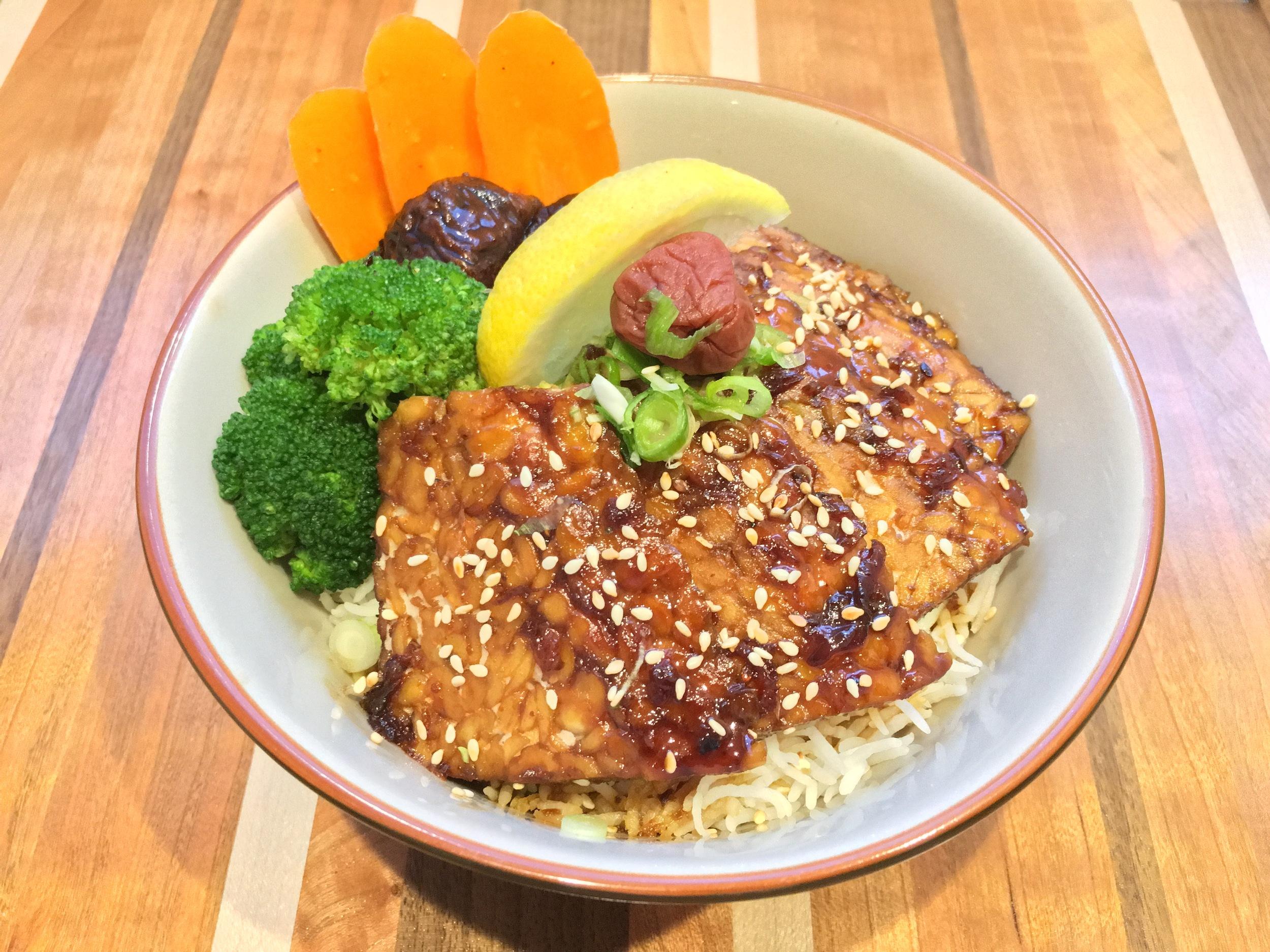 Tempeh Teriyaki - with Traditional Teriyaki Sauce