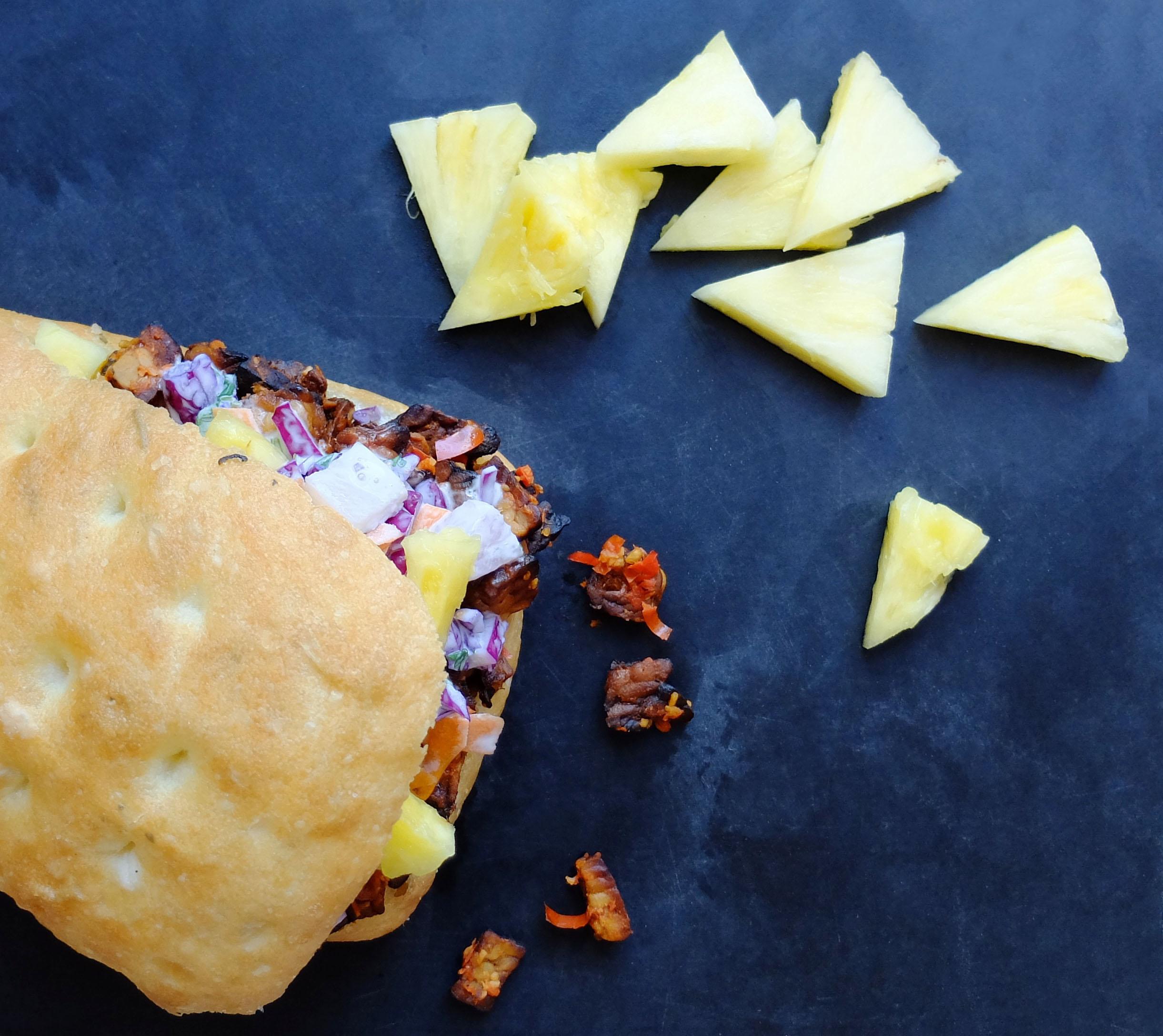 Spicy Tempeh Sloppy Joe's - With Sweet Pineapple Slaw