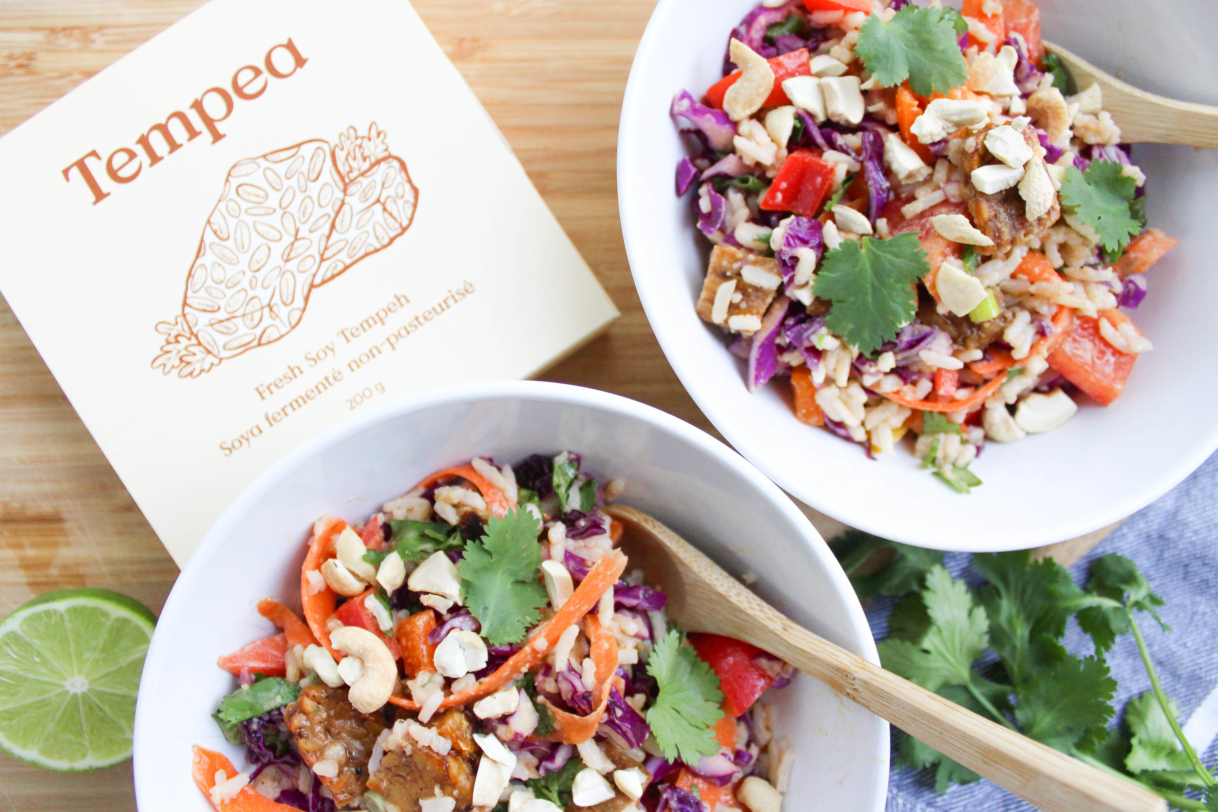 Thai Coconut and Tempeh Cashew Rice