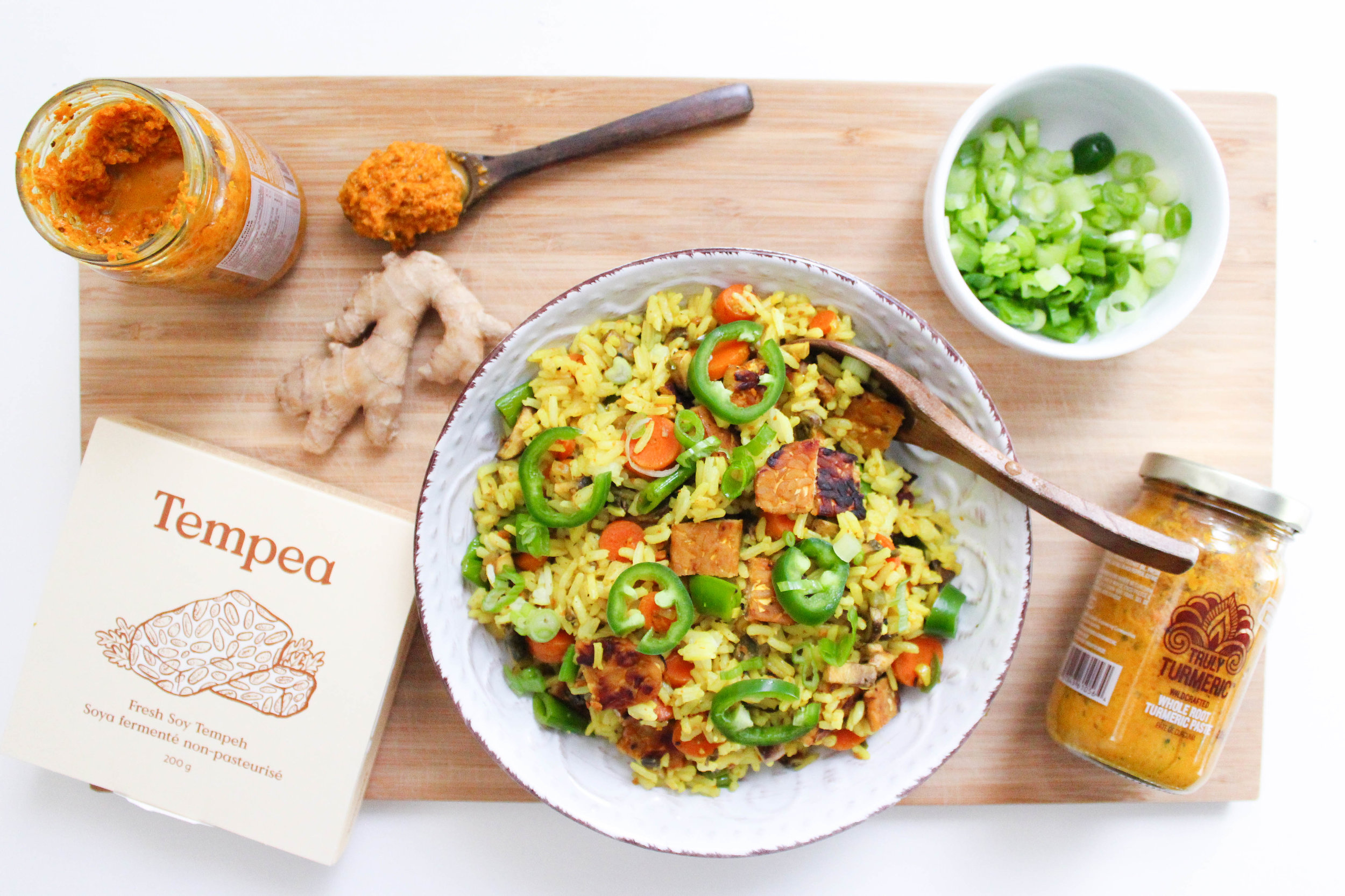 Truly Turmeric Tempeh Fried Rice -
