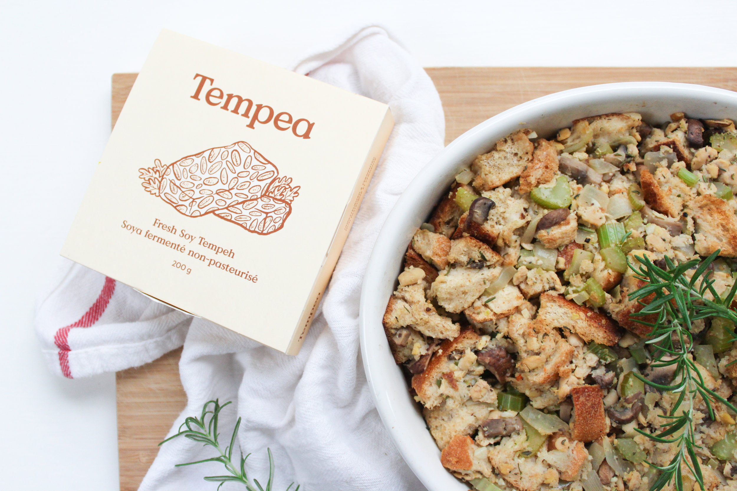 Tempeh and Mushroom Stuffing -
