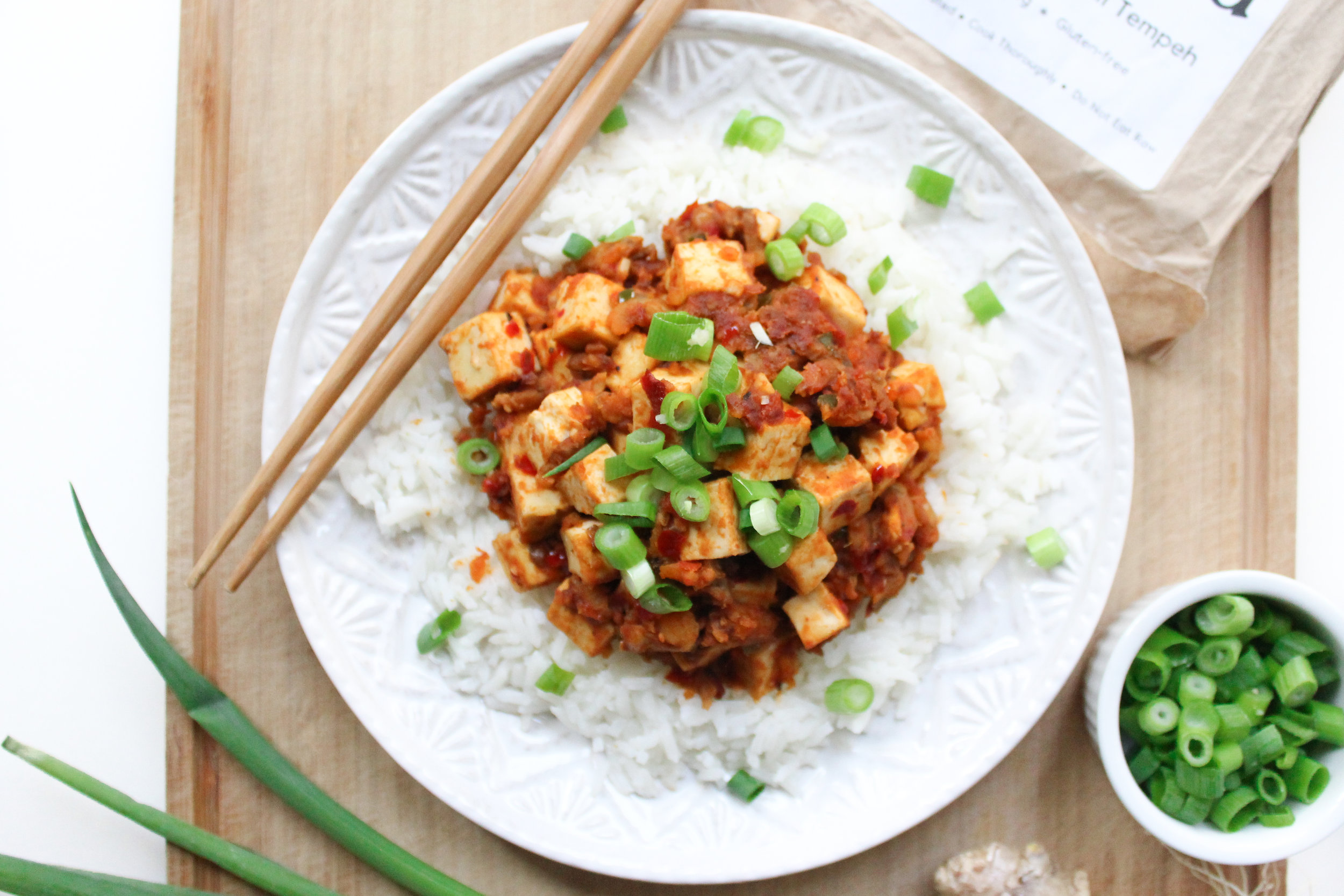 Tempeh Mapo Tofu -