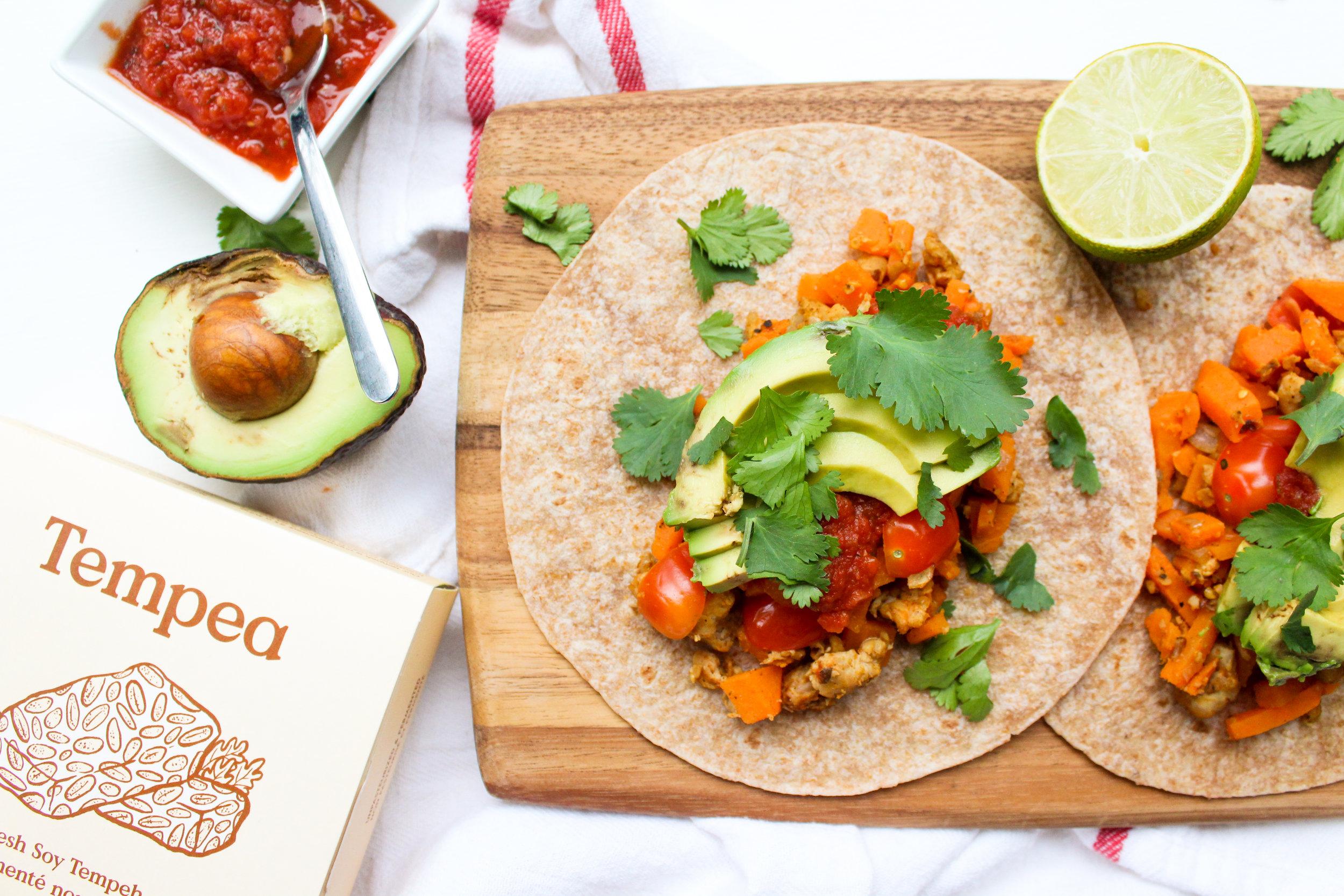 Tempeh Breakfast Tacos -