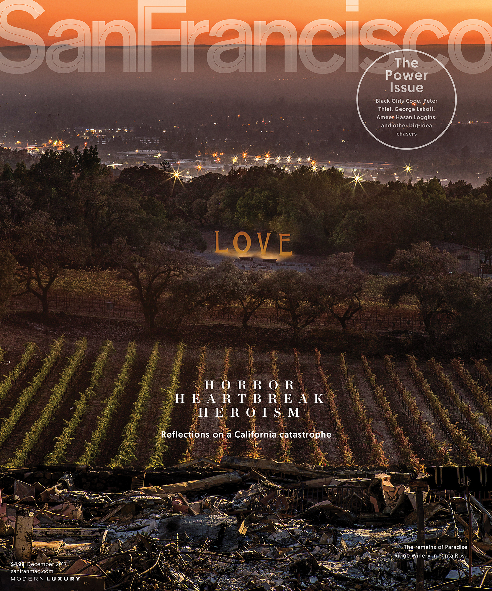 December cover of San Francisco Magazine.