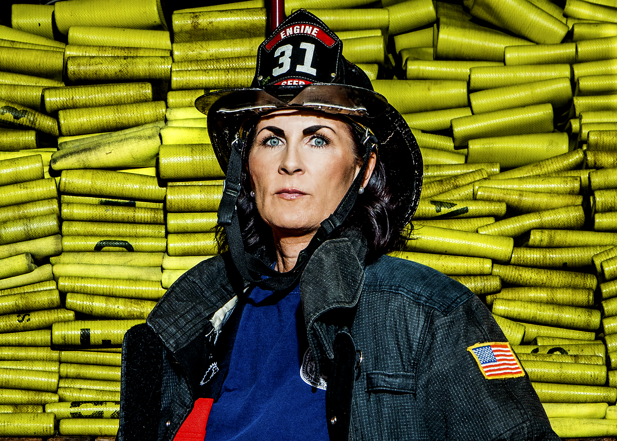 Marcella McCormack - Firefighter, 18 years.