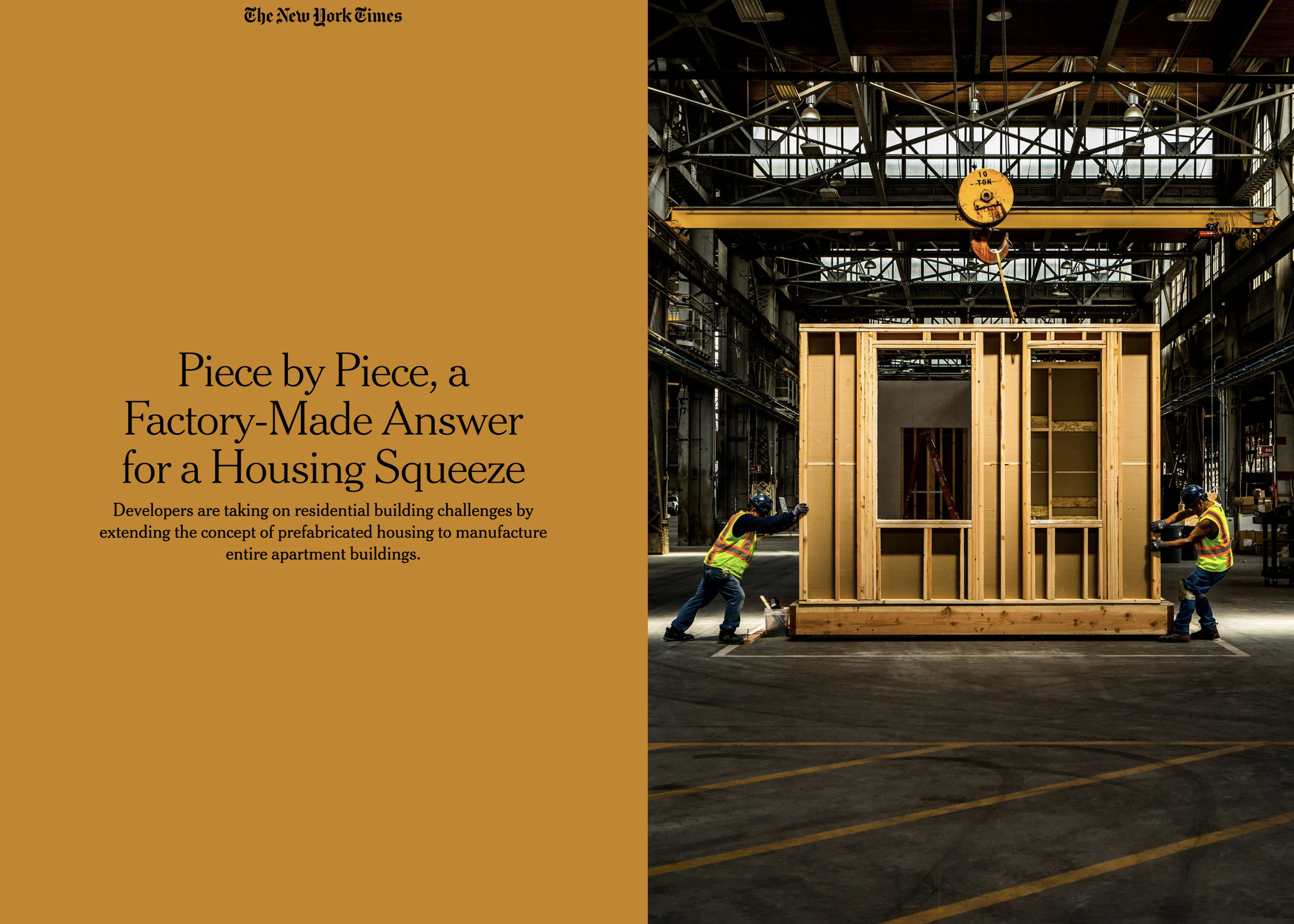 Modular Housing for The New York Times.