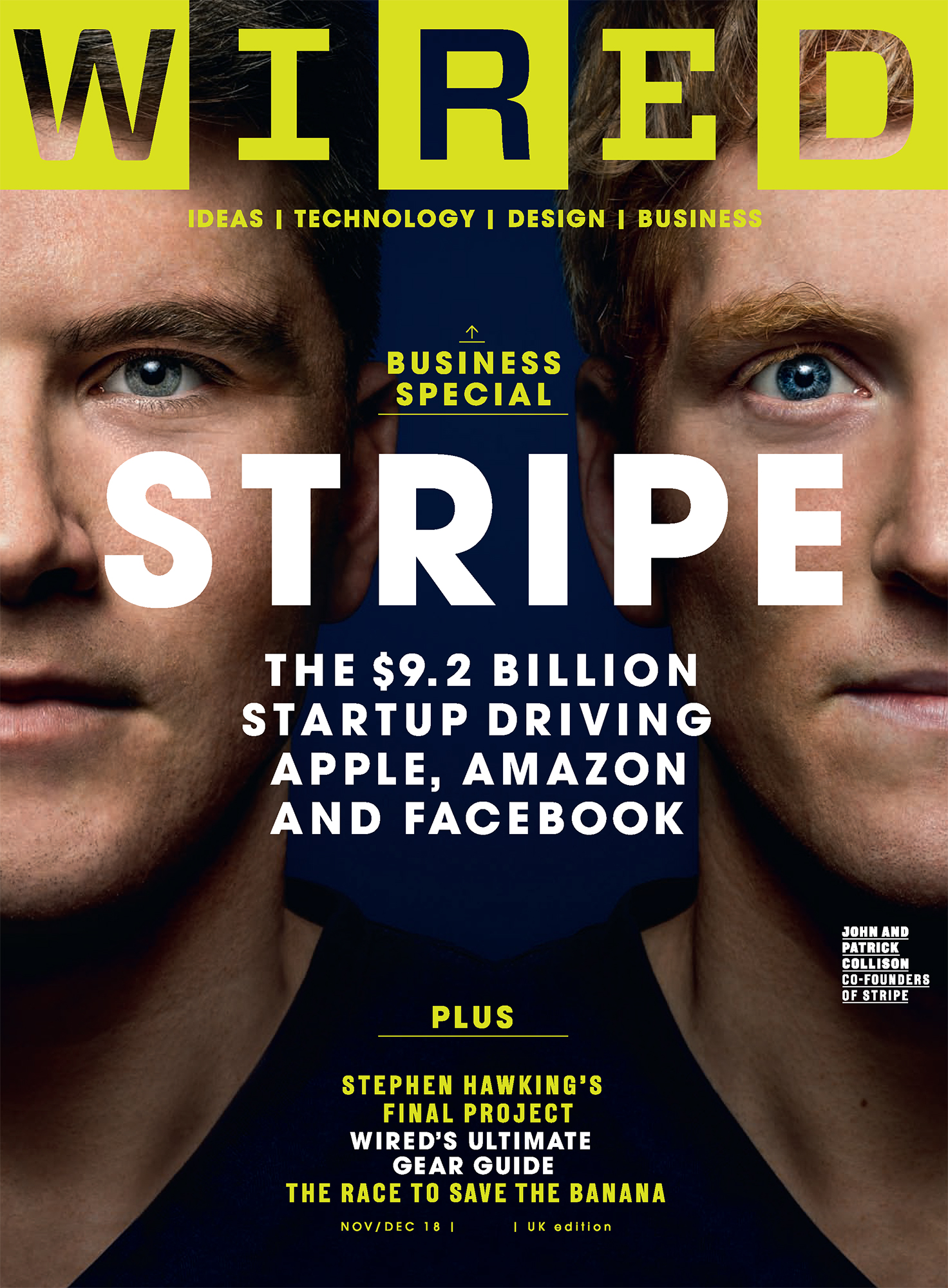Wired Uk Cover, Stripe founders